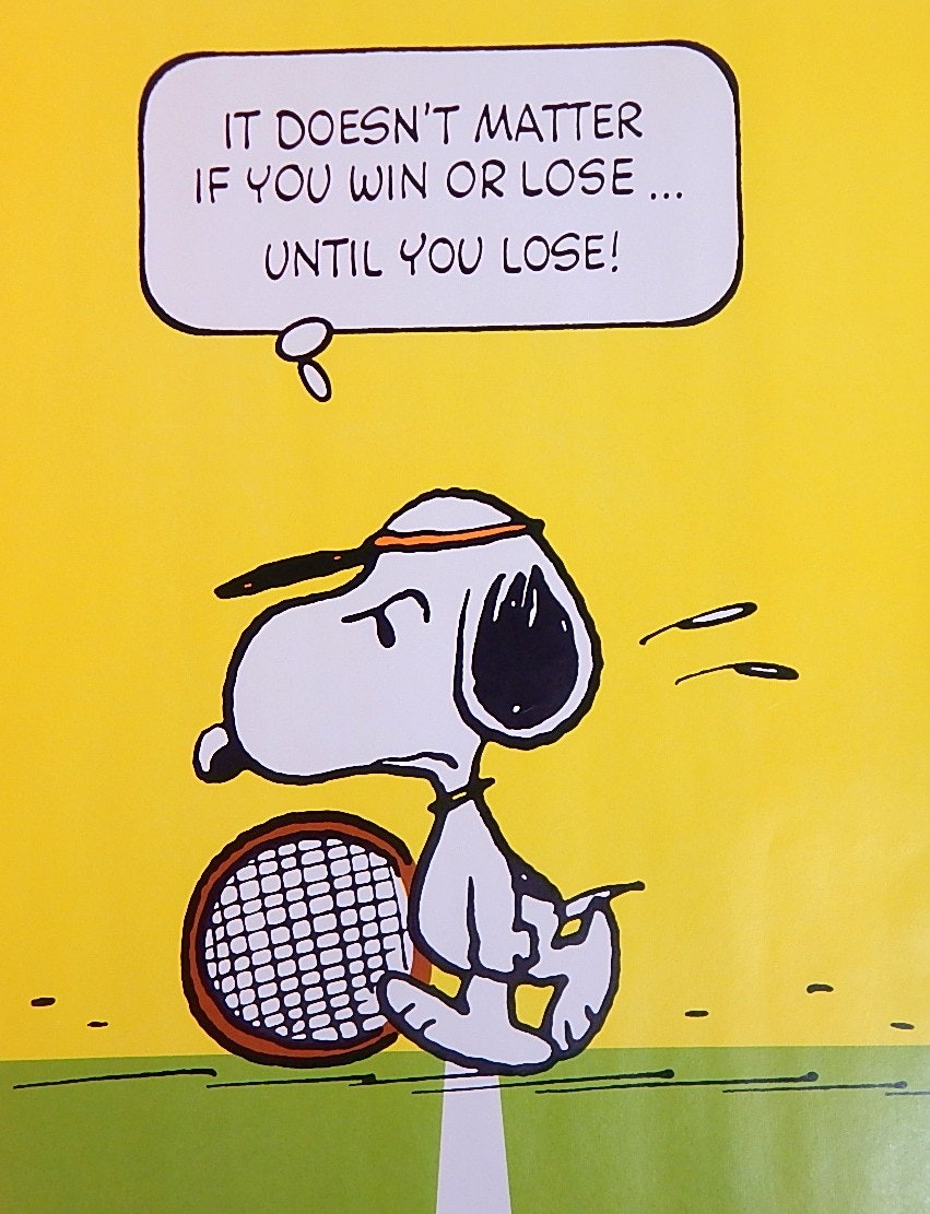 "1958 United Feature Syndicate Snoopy Tennis 20"" x 28"" Poster"