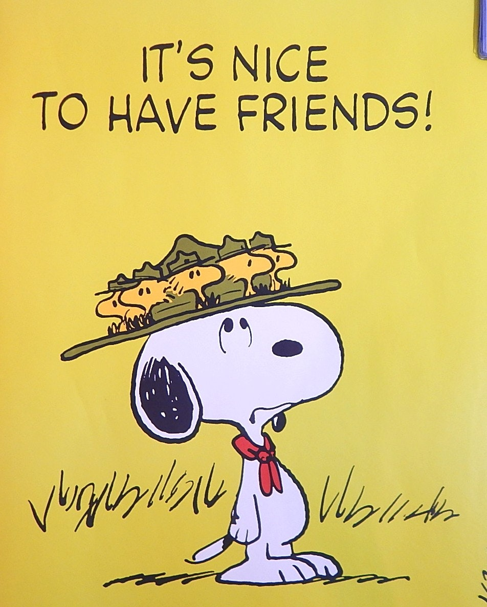 "1965 United Feature Syndicate Snoopy 20"" x 28"" Poster"