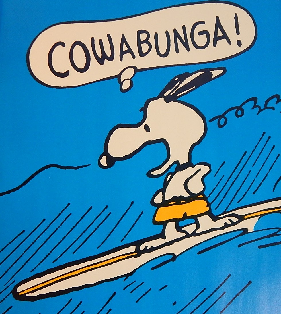 """1958 United Feature Syndicate Snoopy 20"""" x 28"""" Poster"""