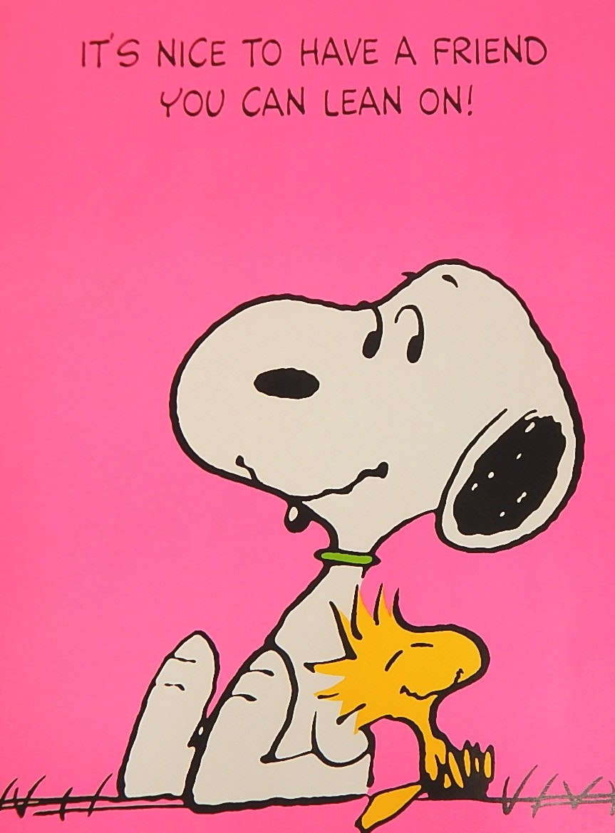 "1965 United Feature Syndicate Snoopy and Woodstock 20"" x 28"" Poster"