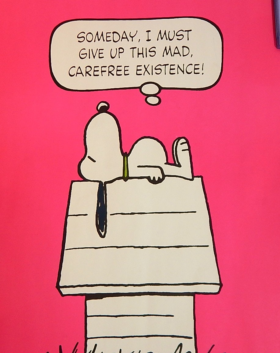 "Vintage United Syndicate Snoopy 20"" x 28"" Poster"