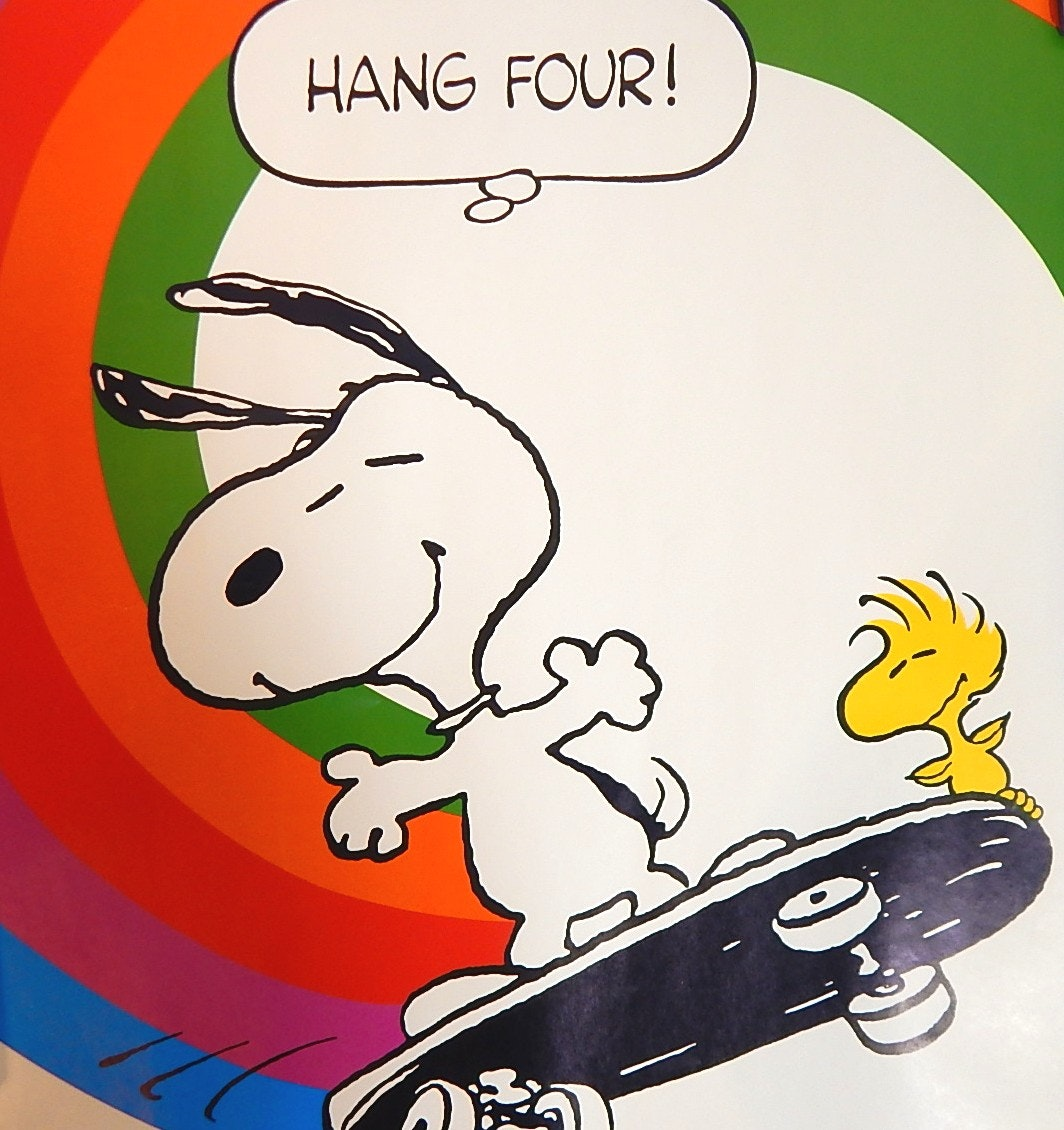 """Hang Four"" Snoopy and Woodstock Poster, 1965"