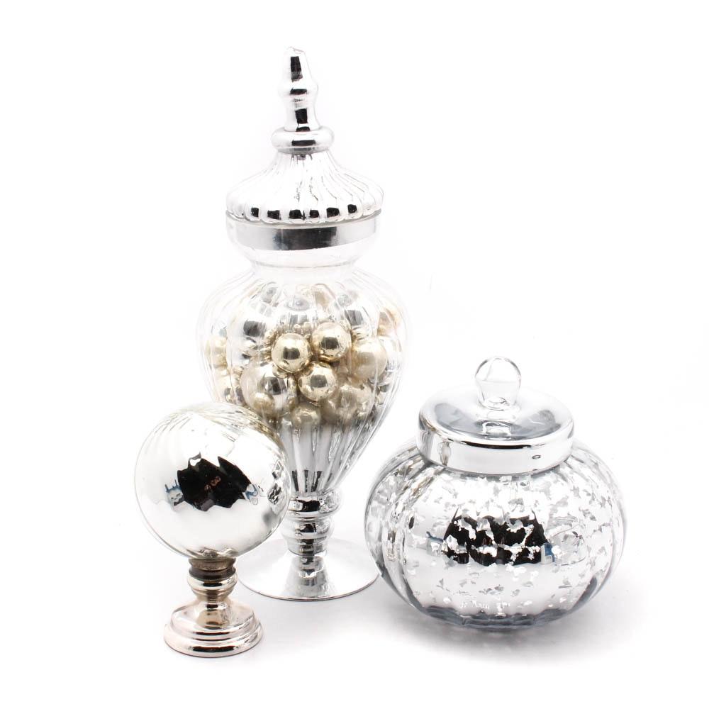 Mercury Glass Vase Collection