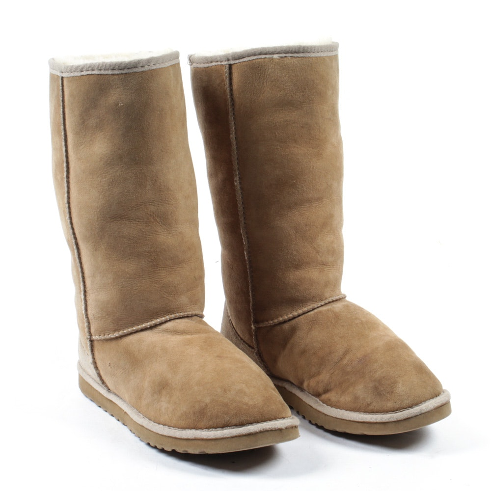 Ugg Australia Classic Tall Shearling Lined Leather Boots
