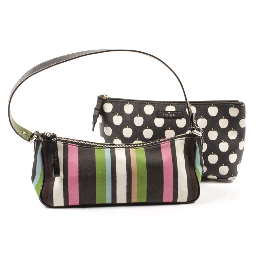 6dbb67fb5889 Kate Spade New York Baguette Bag and Cosmetic Pouch   EBTH