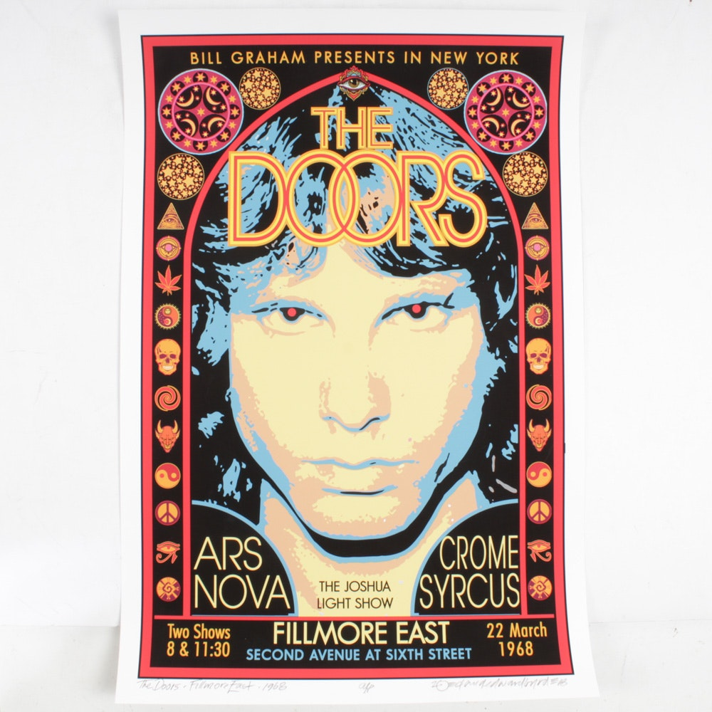 "David Edward Byrd Giclée ""The Doors Fillmore East 1968"""