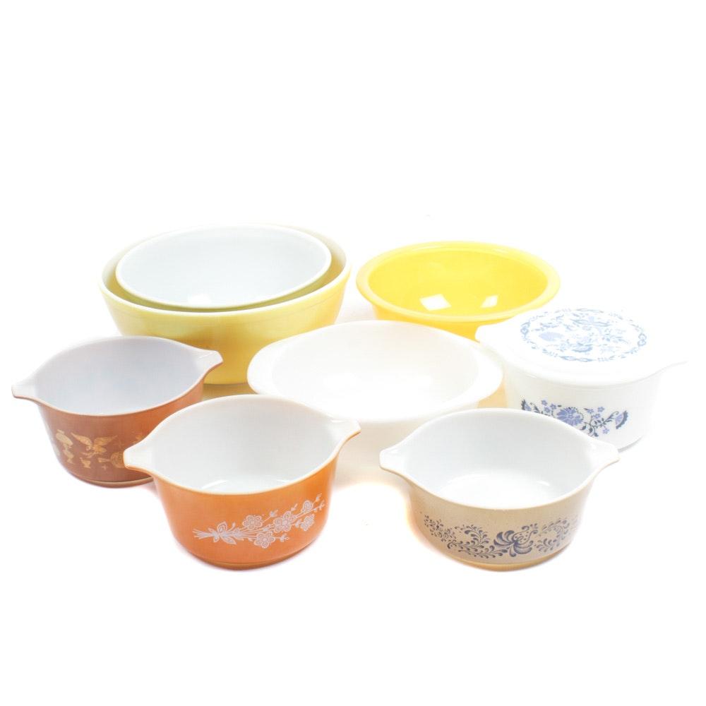 Vintage Pyrex Bowl and Bakeware Assortment