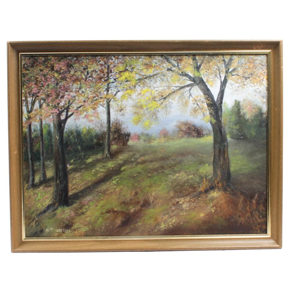 "M.L. McCafferty Oil Painting ""Autumn Haze"""