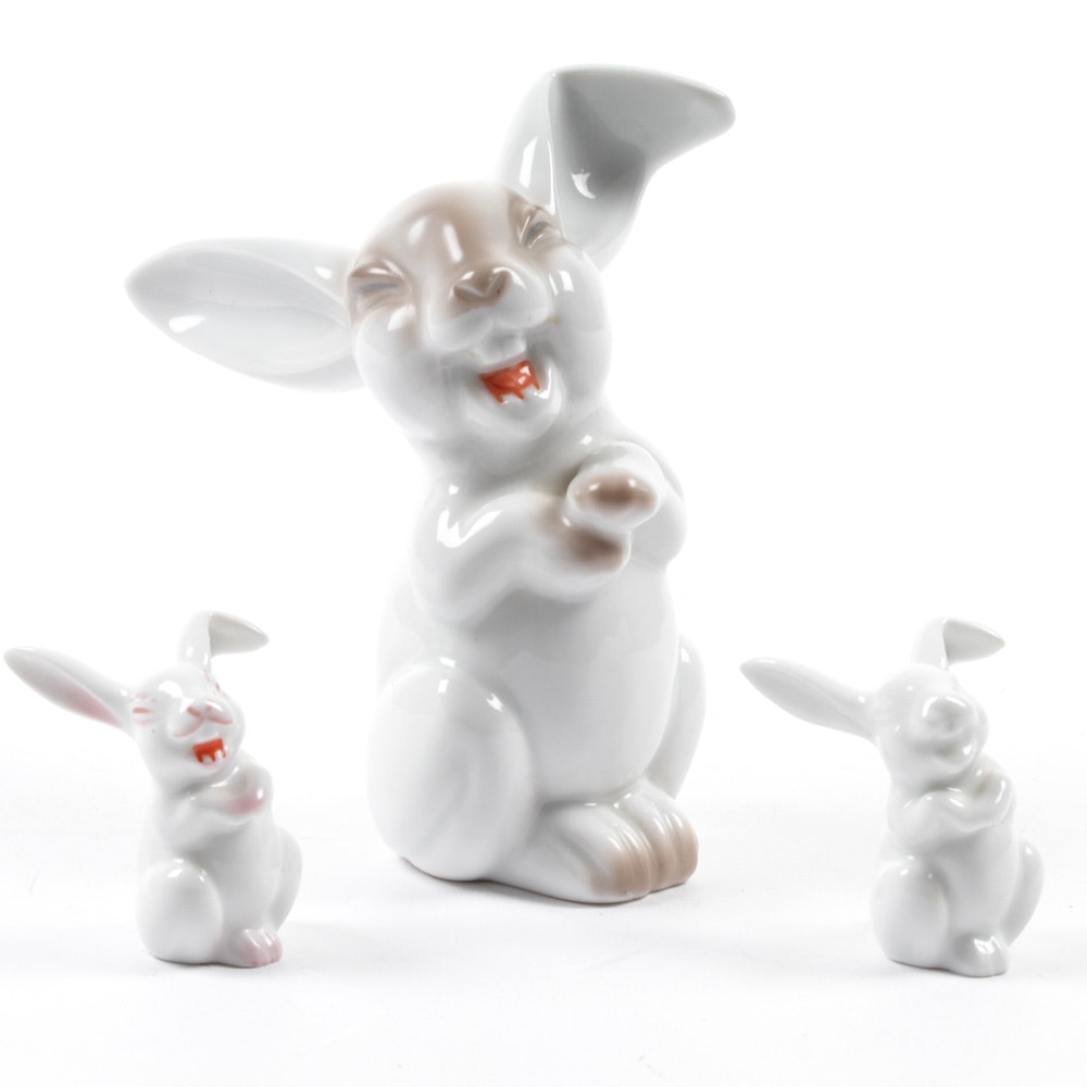 White Rabbit Figurines