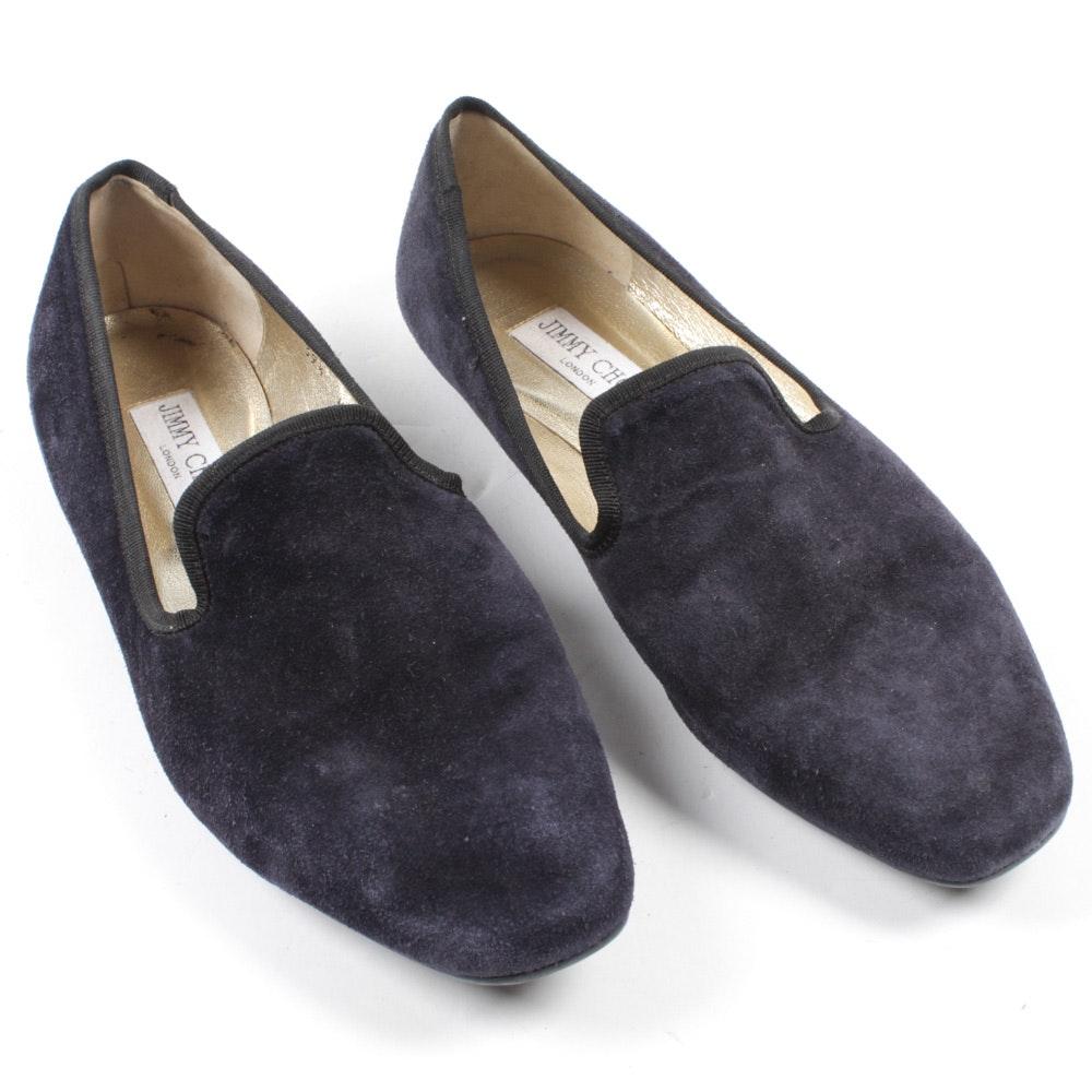 Jimmy Choo London Blue Suede Loafers