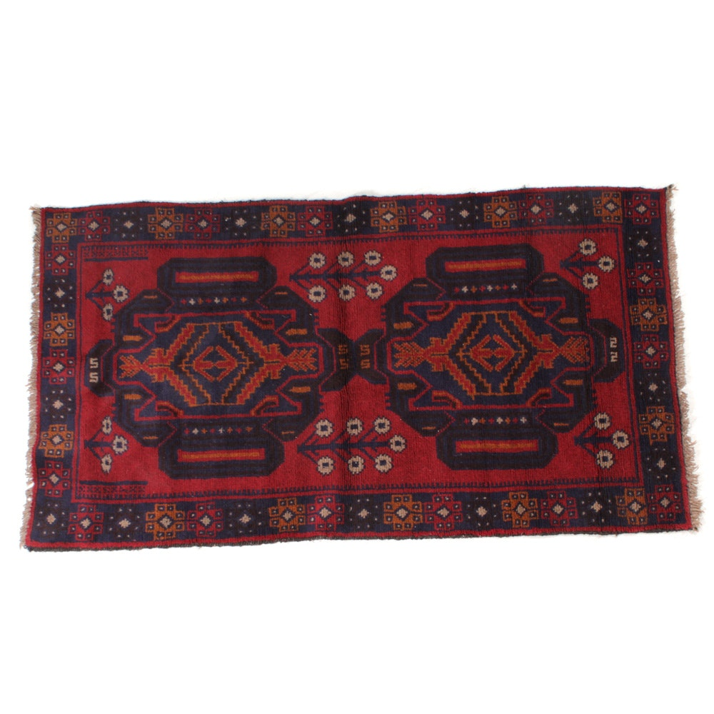 Hand-Knotted Northwest Persian Rizh Baft Rug