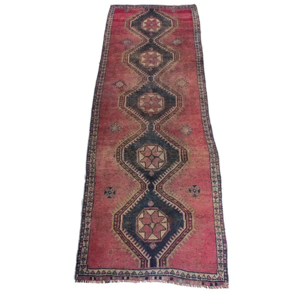 Hand-Knotted Persian Qashqai Rug Runner