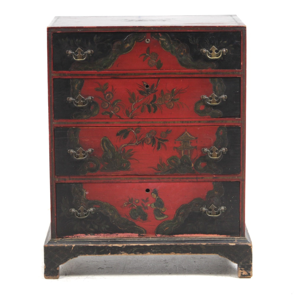 Antique Chinoiserie Chest of Drawers