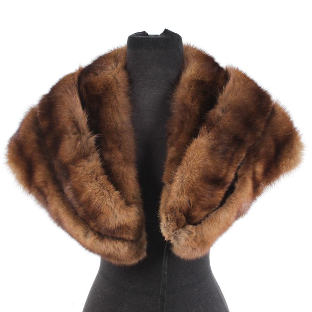 Vintage Sable Fur Stole