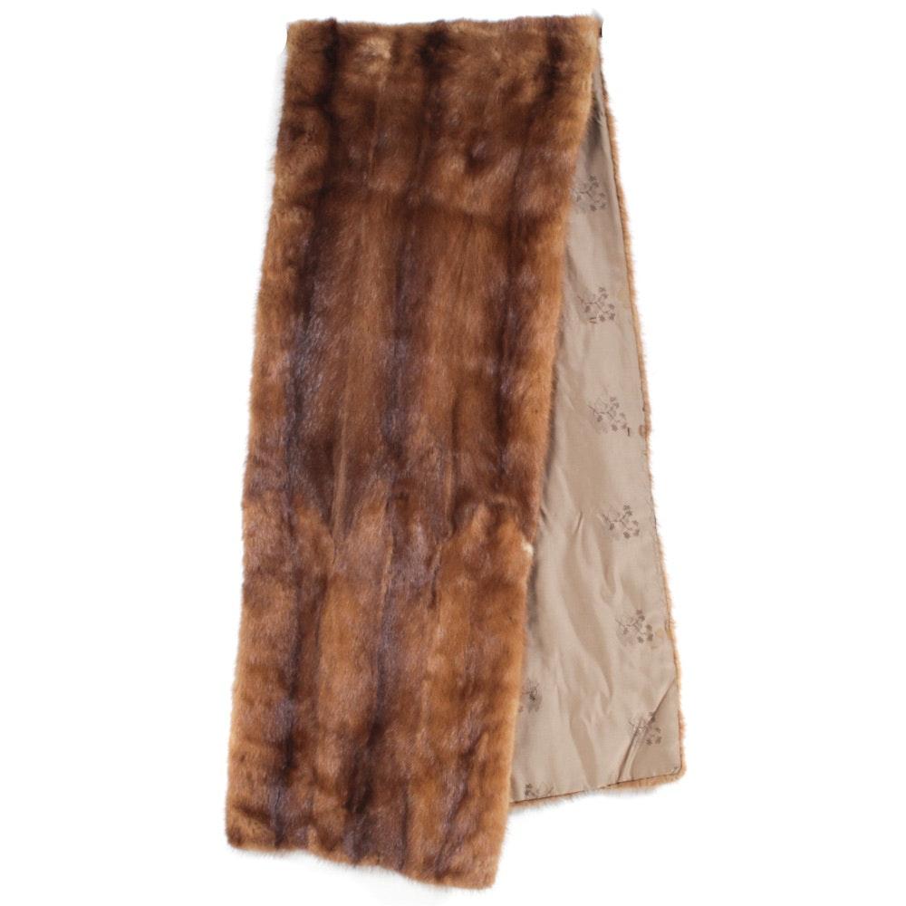 Vintage Mink Fur Scarf