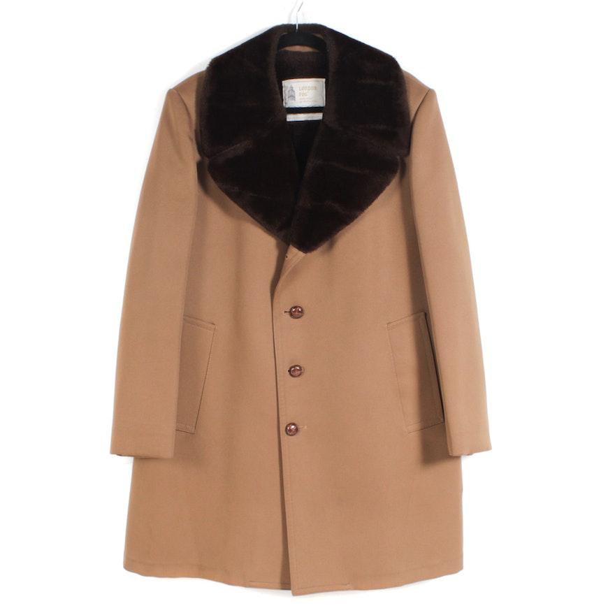60cdf8e05b9c Men s Vintage London Fog Faux Shearling Lined Coat   EBTH