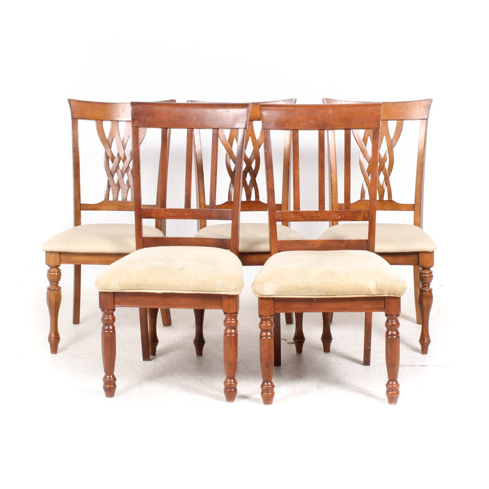 Contemporary Birch Frame Upholstered Side Chairs