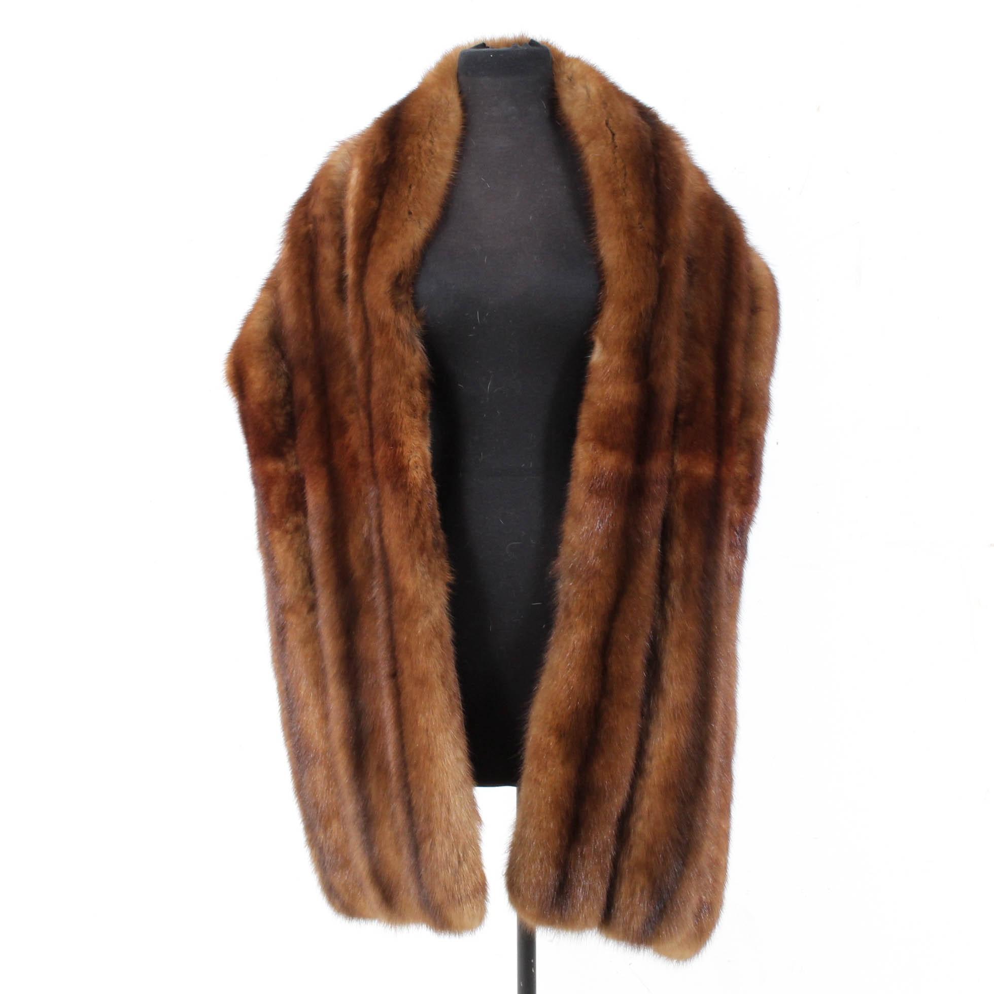 Sable Fur Stole Wrap