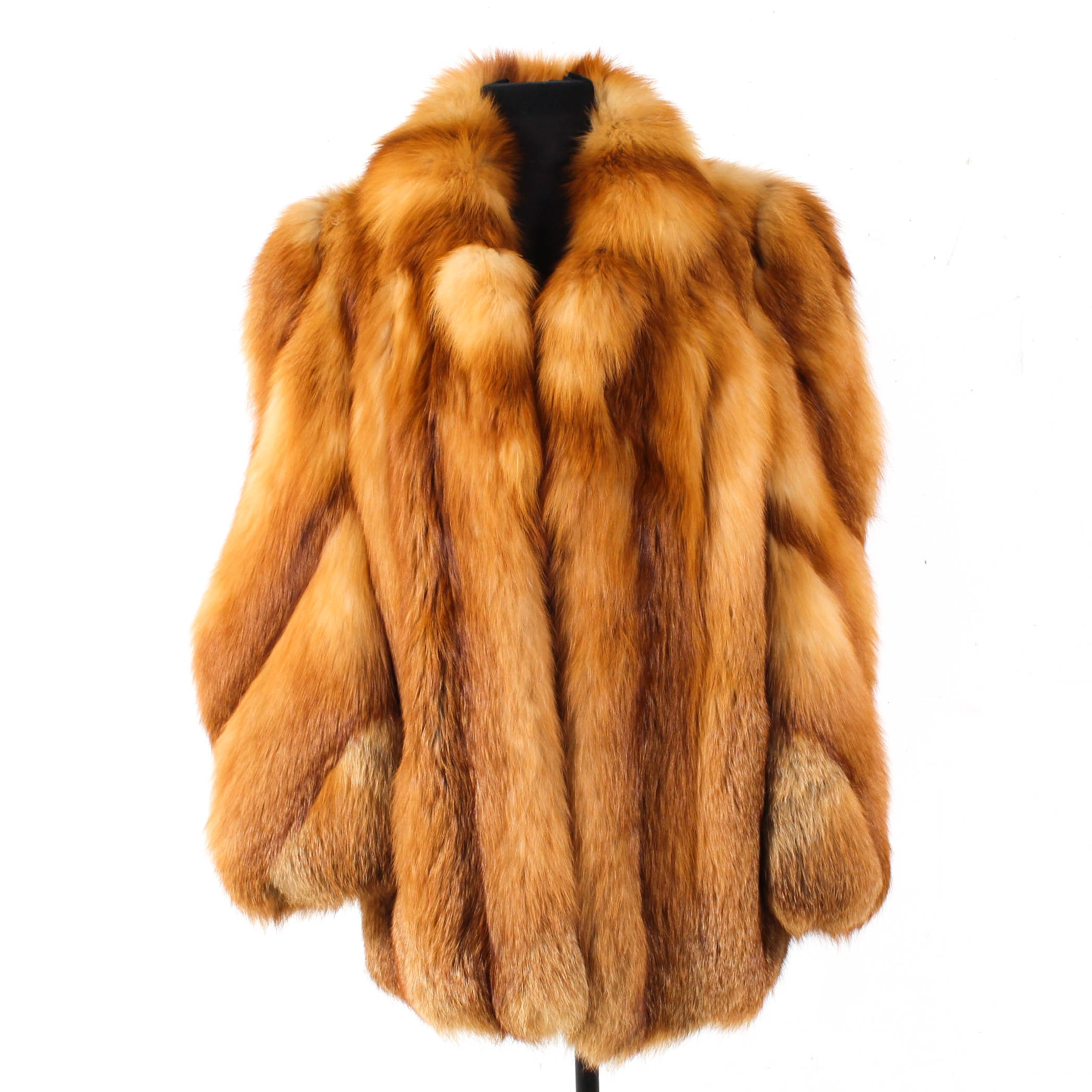 Women's Red Fox Fur Coat