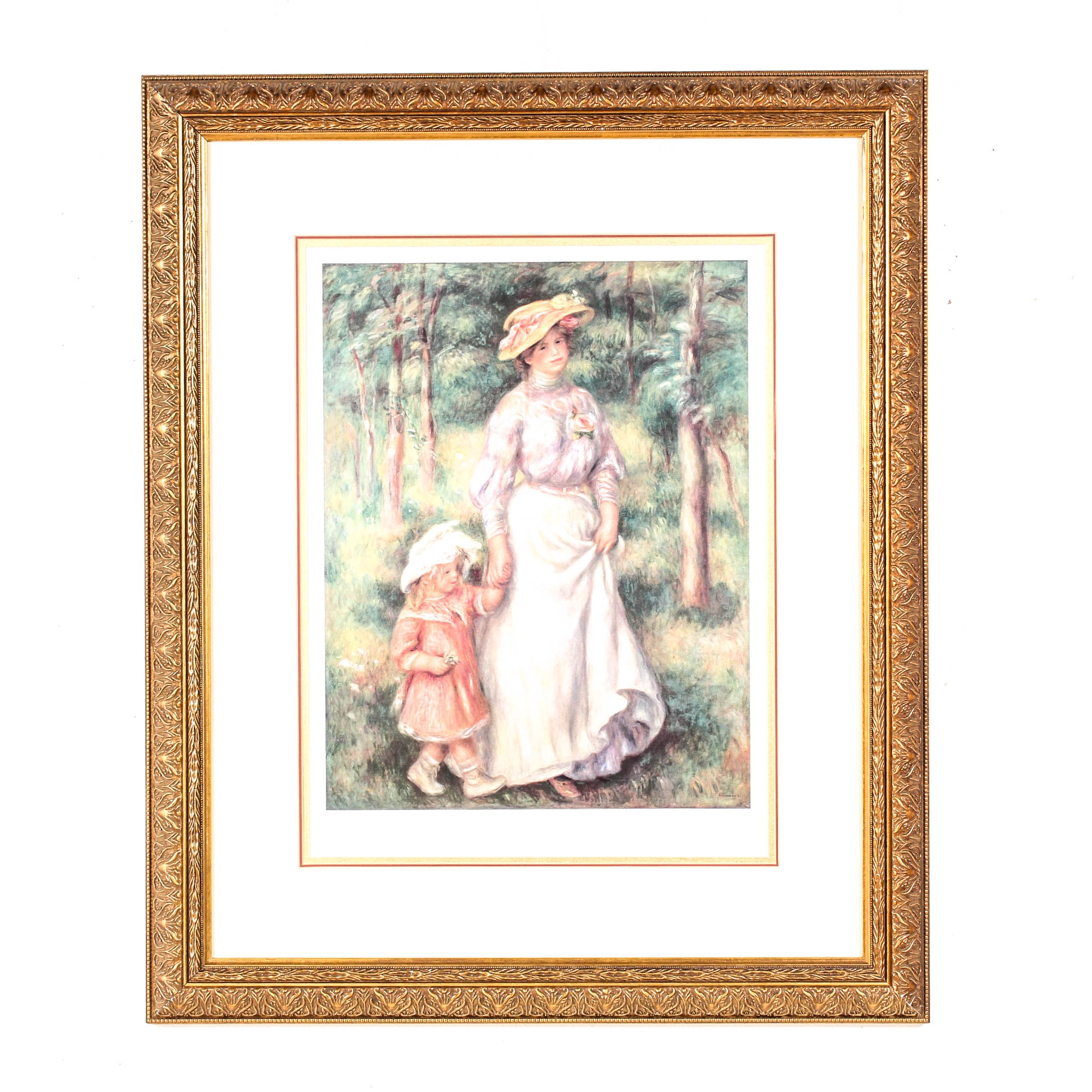 """The Promenade"" Limited Edition Offset Lithograph After Pierre-Auguste Renoir"