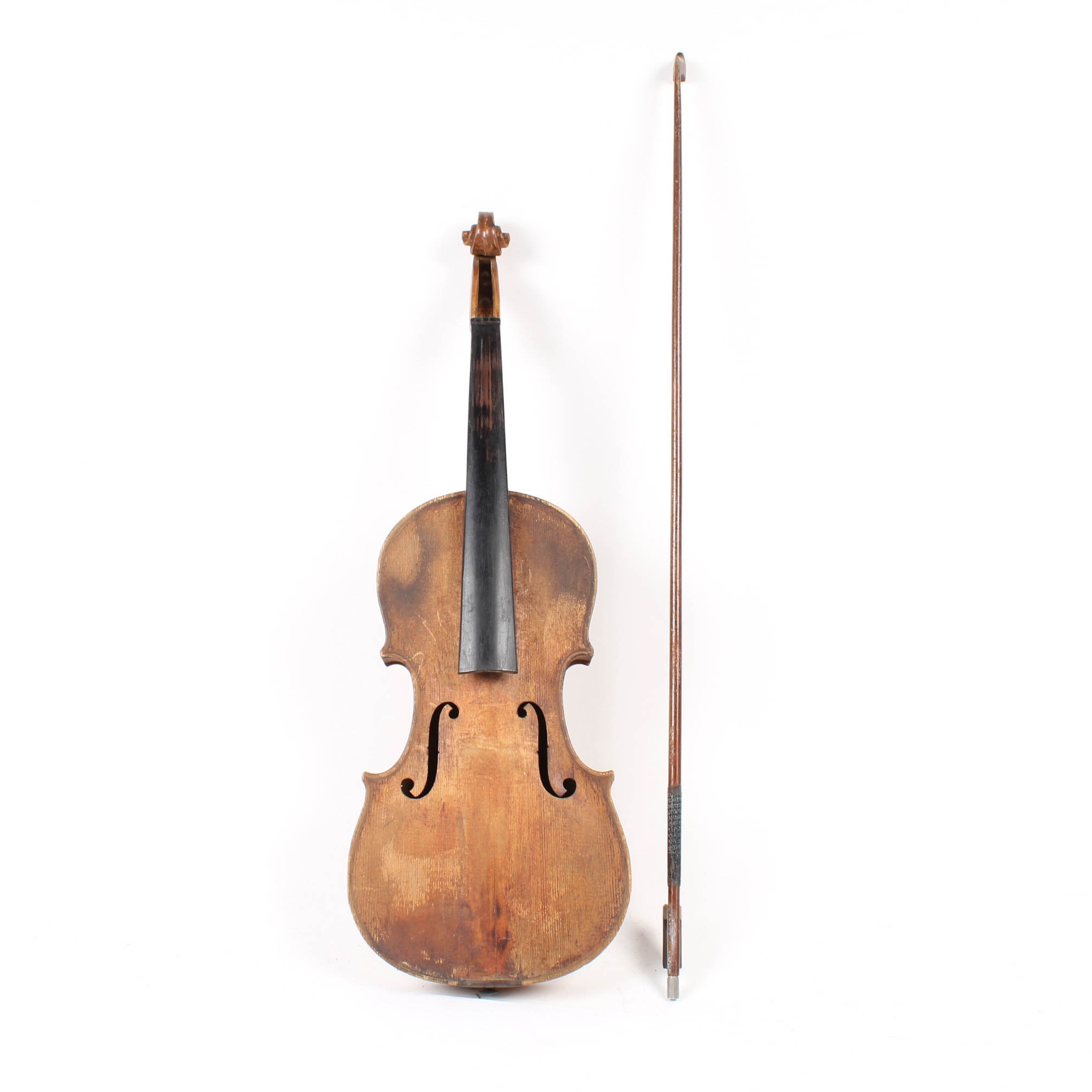 Antique Slovakian Violin and Bow