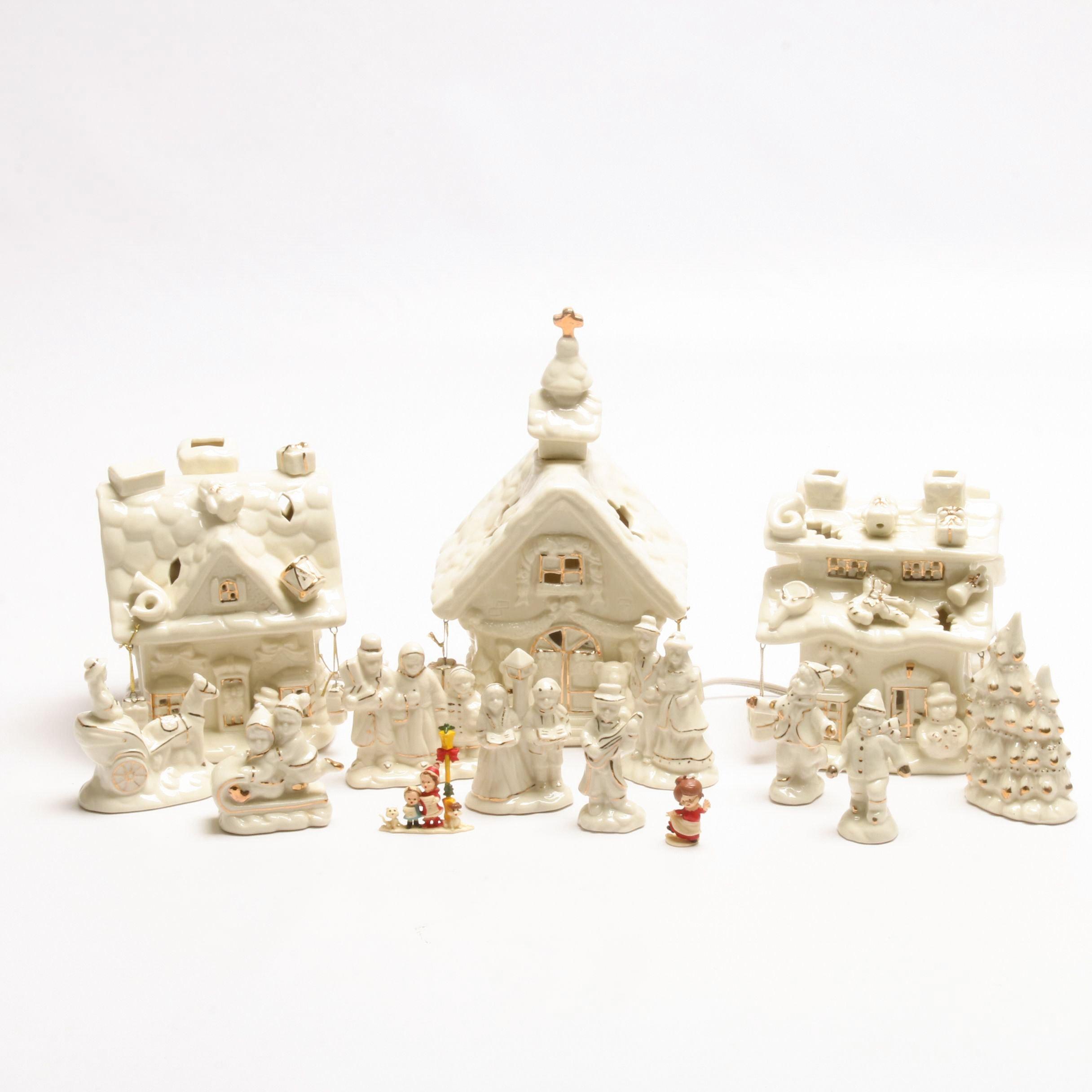 International Bazaar Twelve Piece Lighted Village with Box
