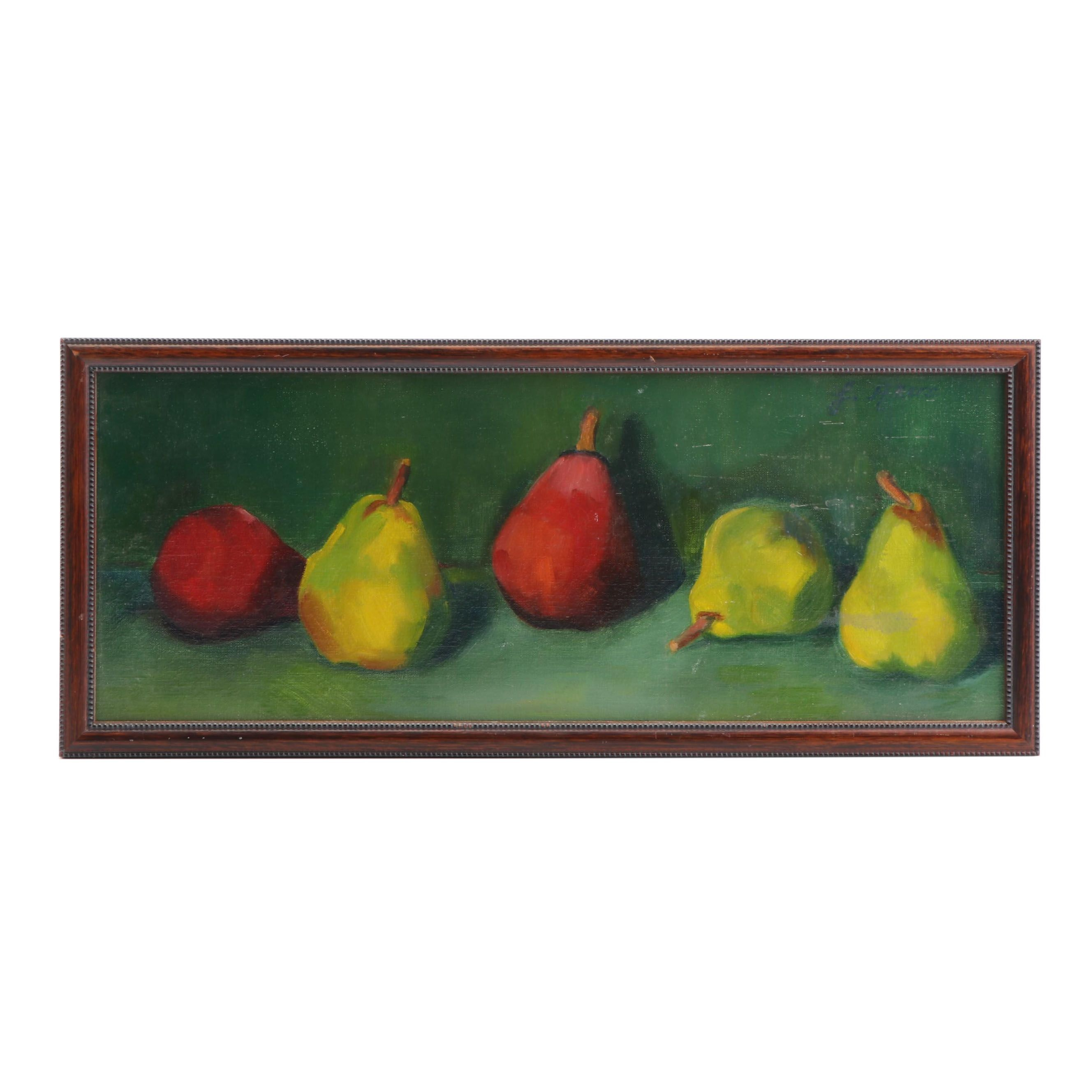 Pears Still Life Painting