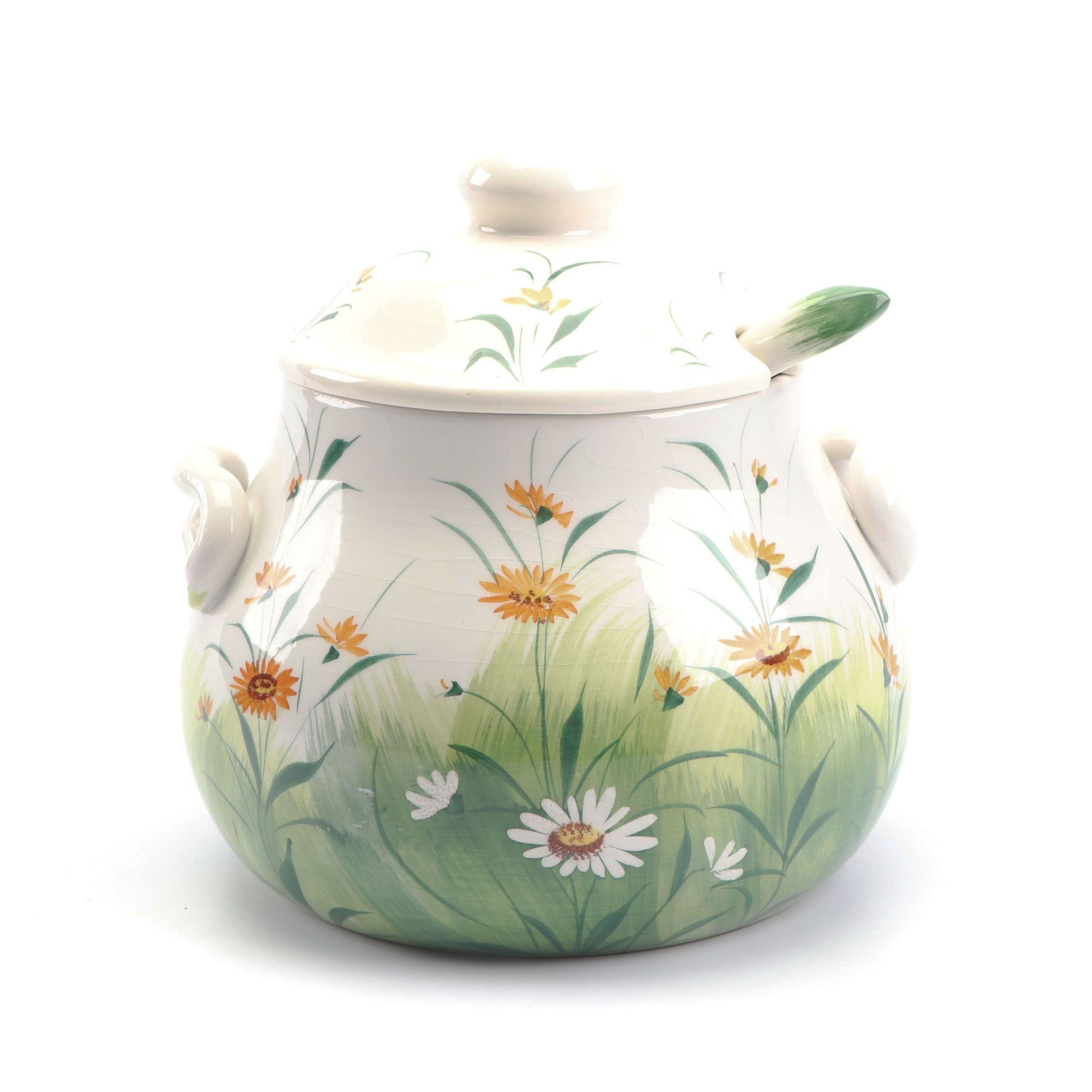 Ancora Italian Hand-Decorated Ceramic Soup Tureen