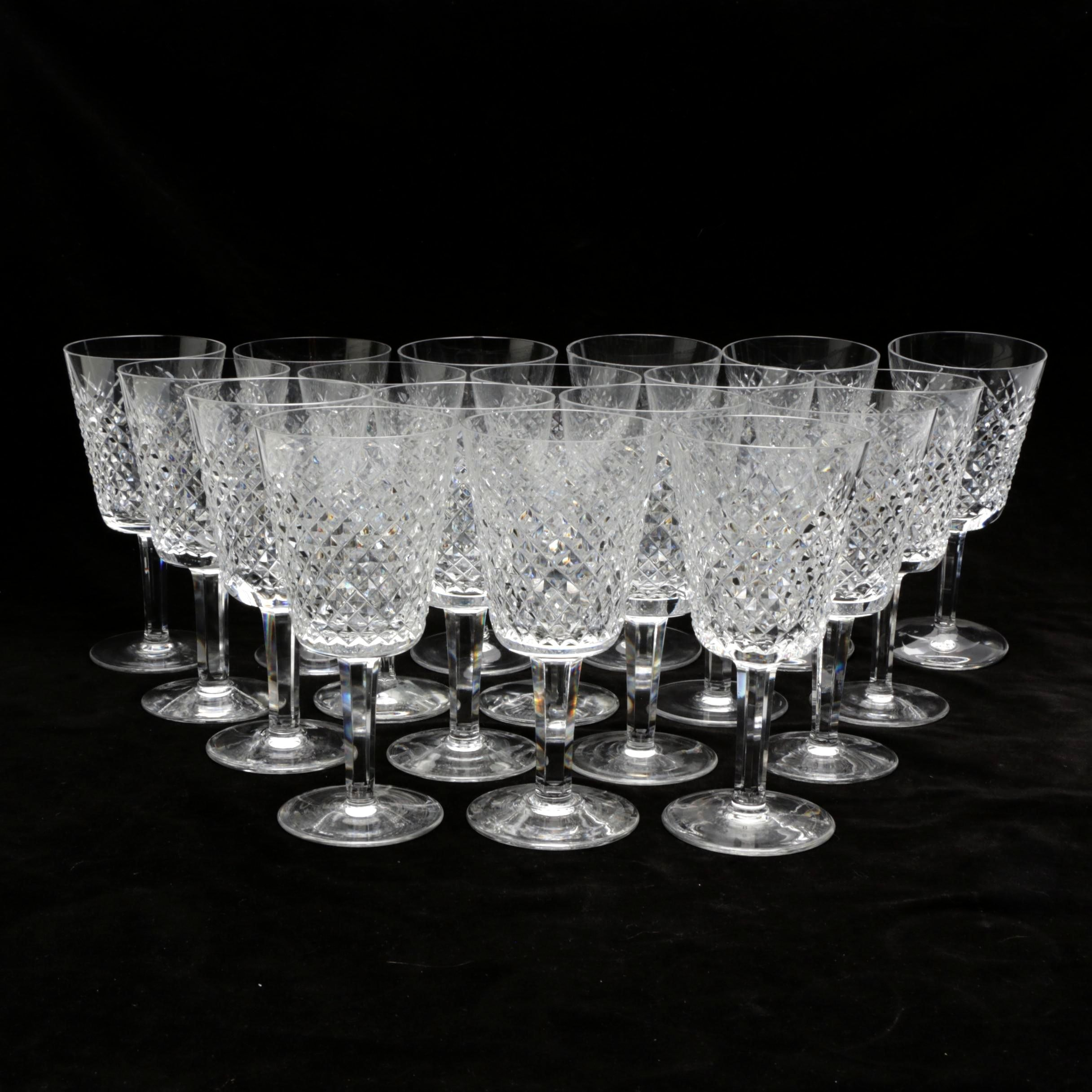 """Waterford Crystal """"Alana"""" Wine Goblets"""