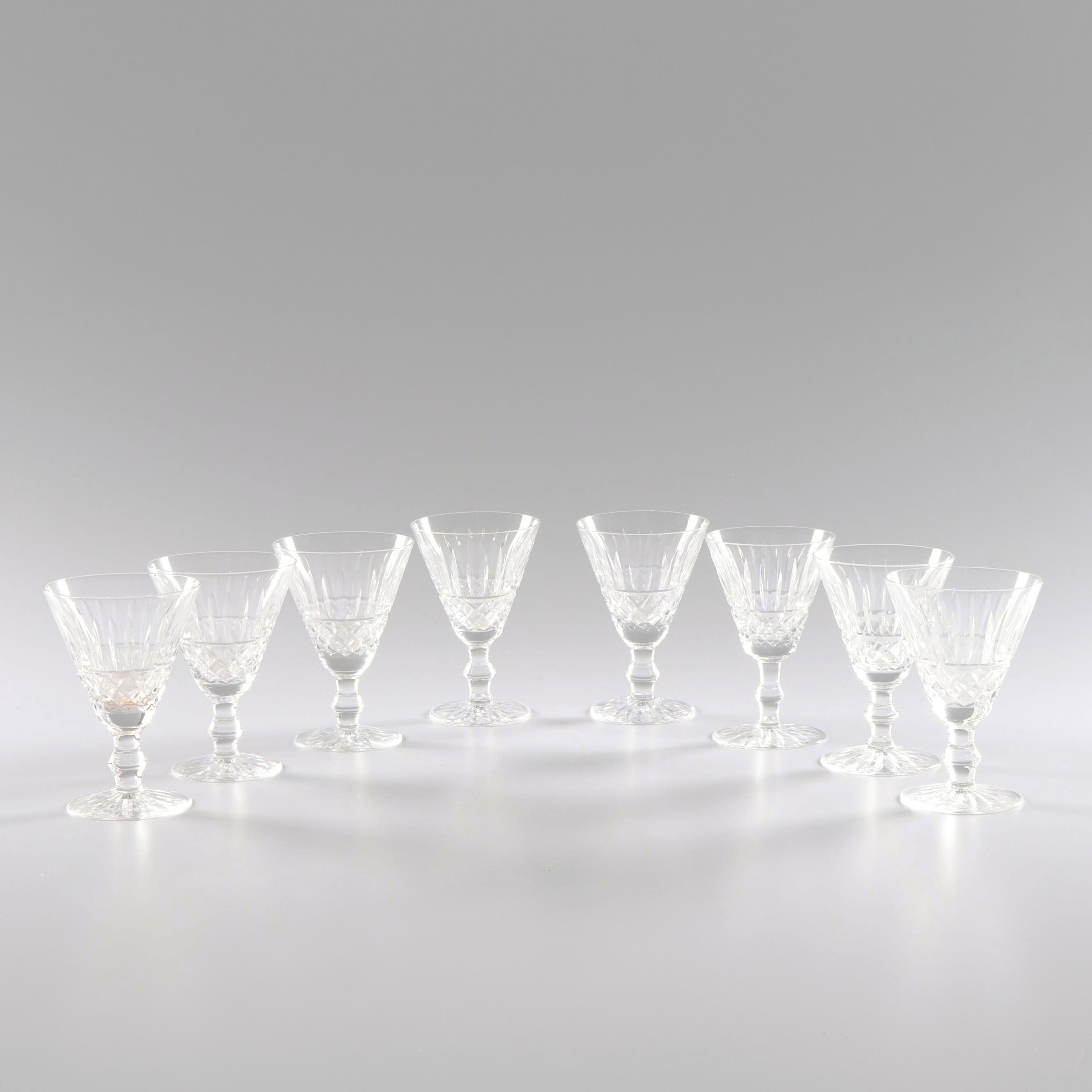 """Waterford Crystal """"Tramore"""" White Wine Glasses"""