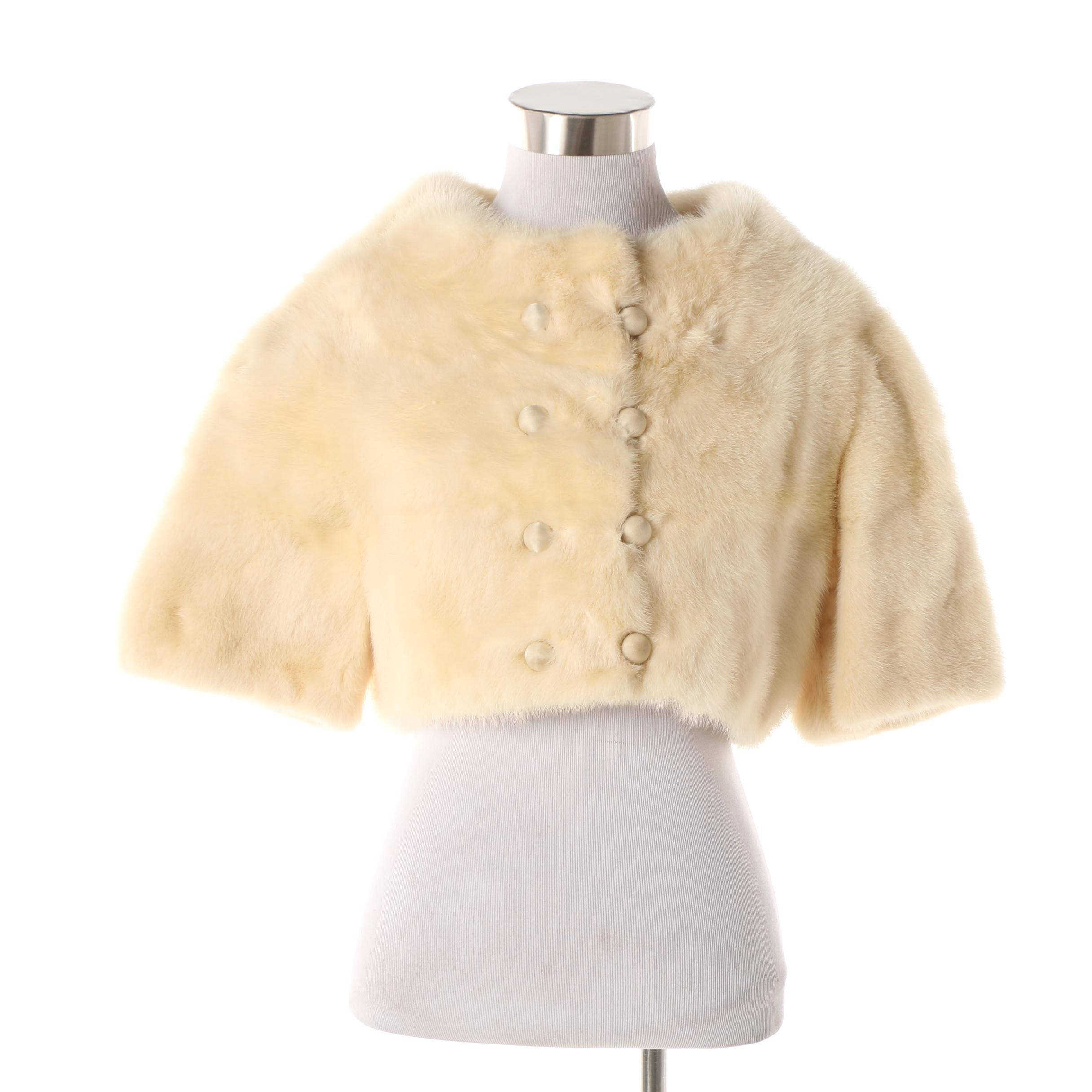 Women's Mid-20th Century Thorpe Furs Mink Fur Double-Breasted Cropped Jacket