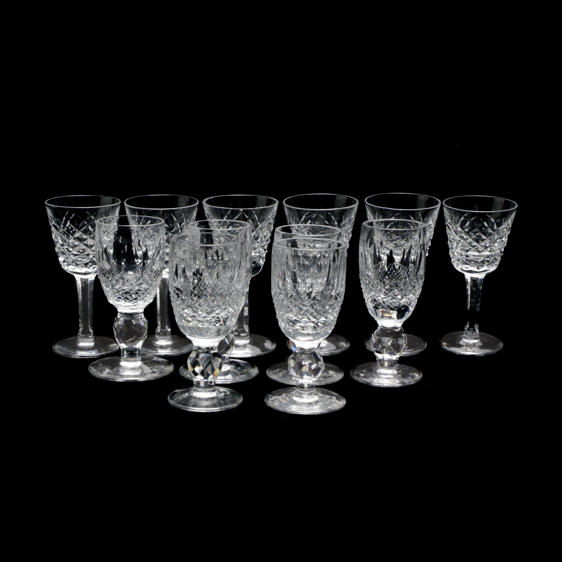 """Waterford Crystal Short Stem """"Colleen"""" Cordial Glasses"""