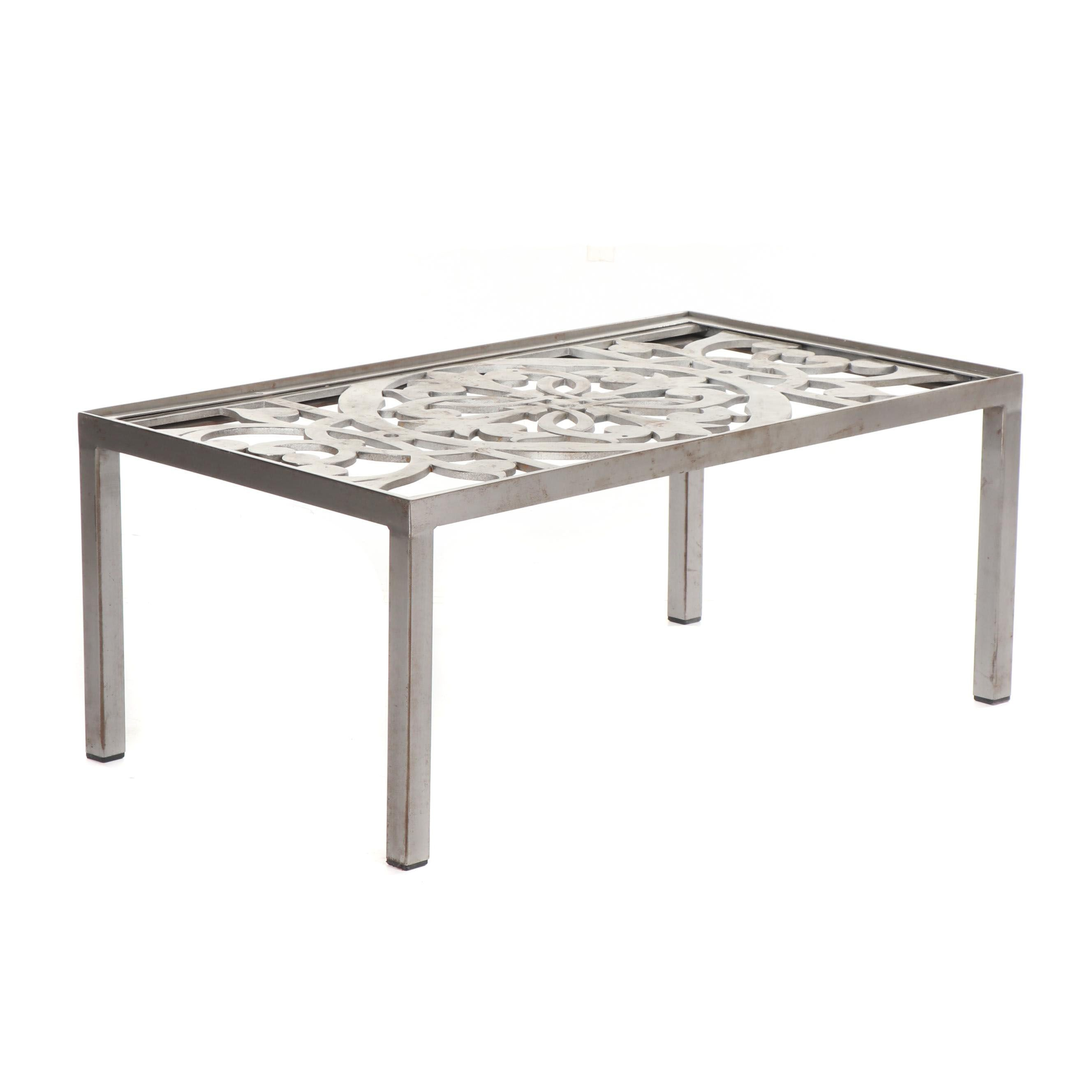 Openwork Metal Coffee Table, 21st Century