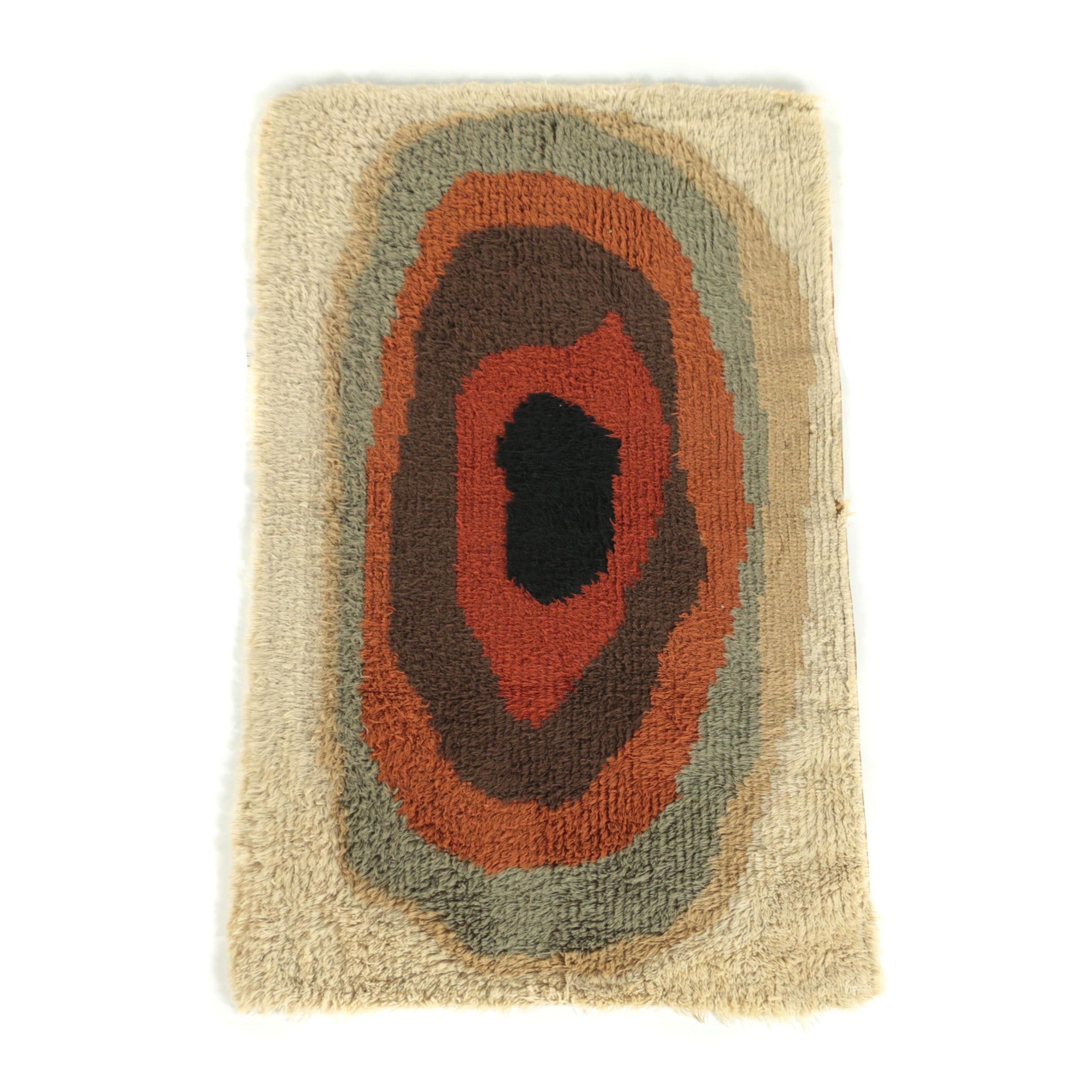 Power-Loomed Mid Century Shag Pile Wool Rug
