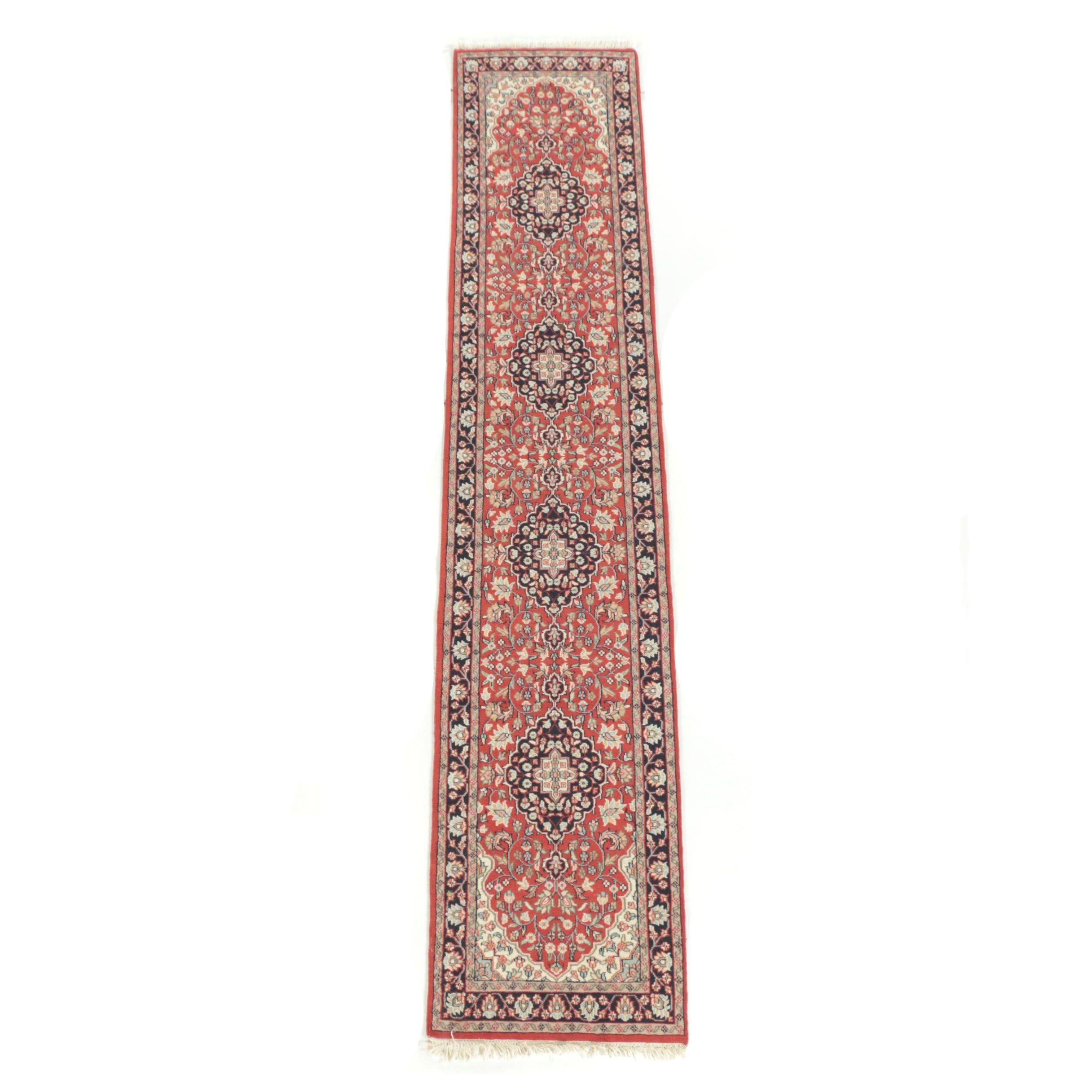 Hand-Knotted Indo-Persian Heriz Wool Runner