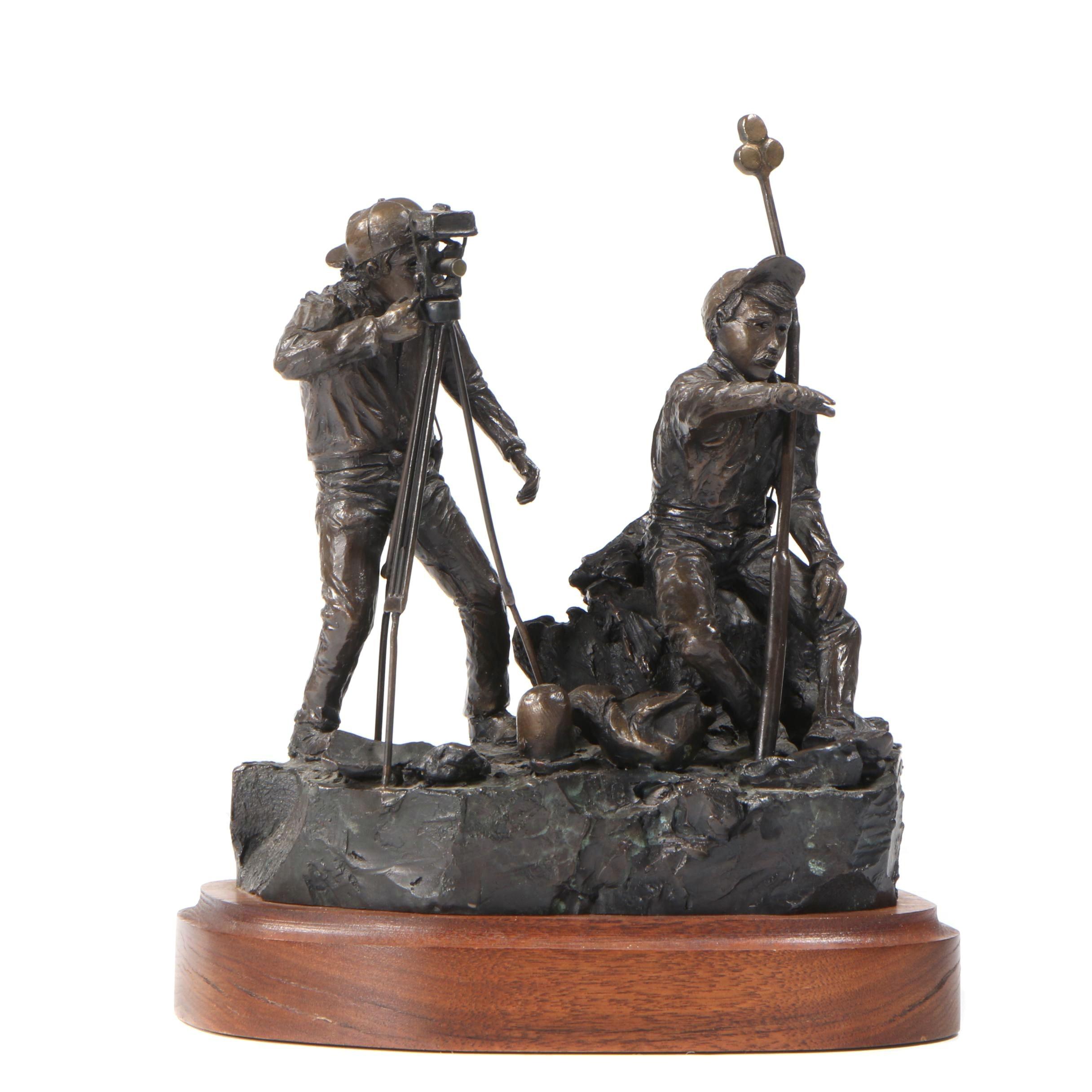 1989 Bronze-Tone Metal Sculpture after Steve Duffy