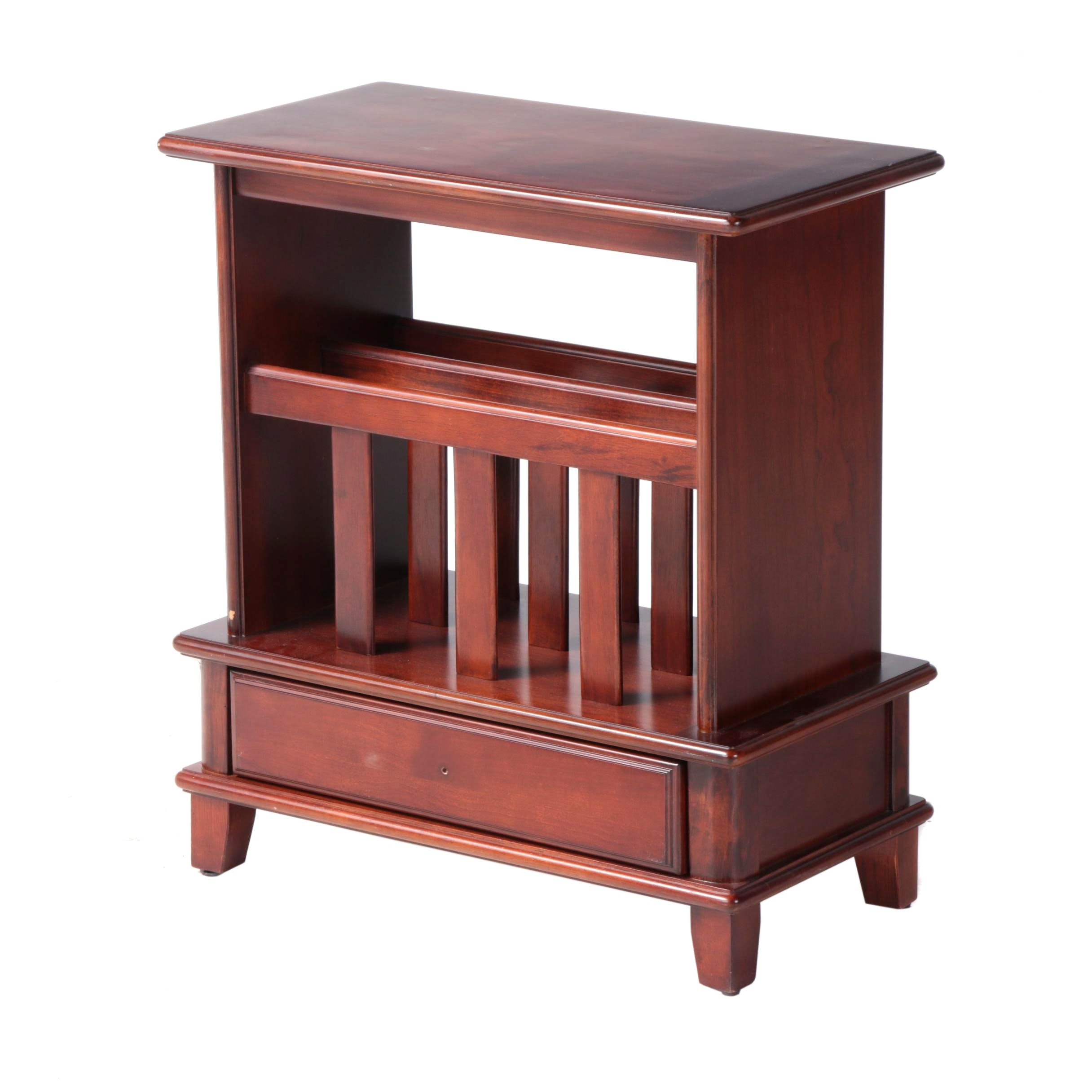 Hammary Furniture Cherry Side Table with Magazine Rack