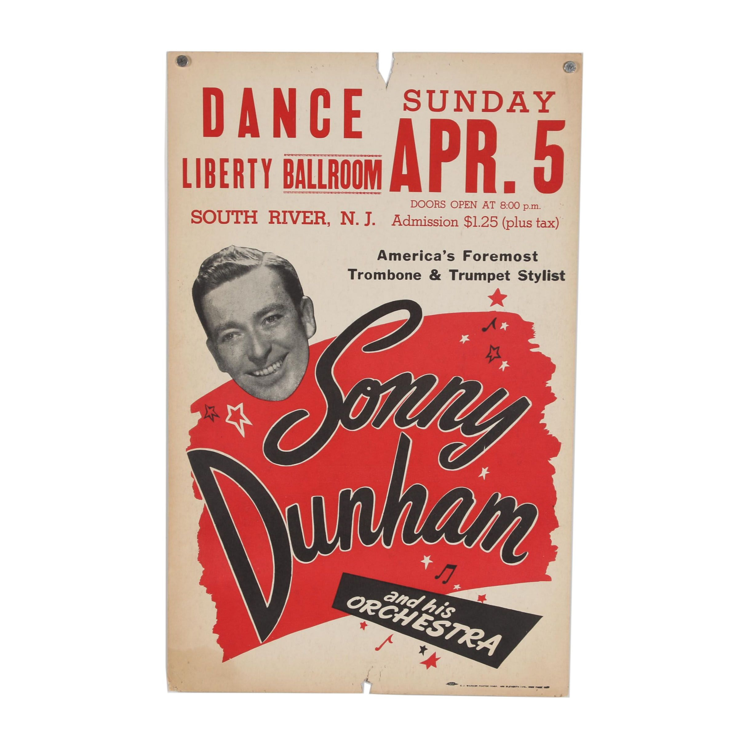 """Advertisement Poster """"Sonny Dunham"""""""