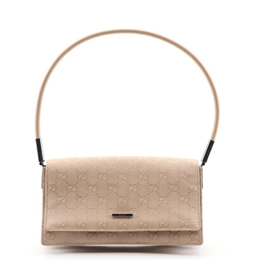 b5c95ddea93 Gucci GG Supreme Canvas and Leather Handbag   EBTH