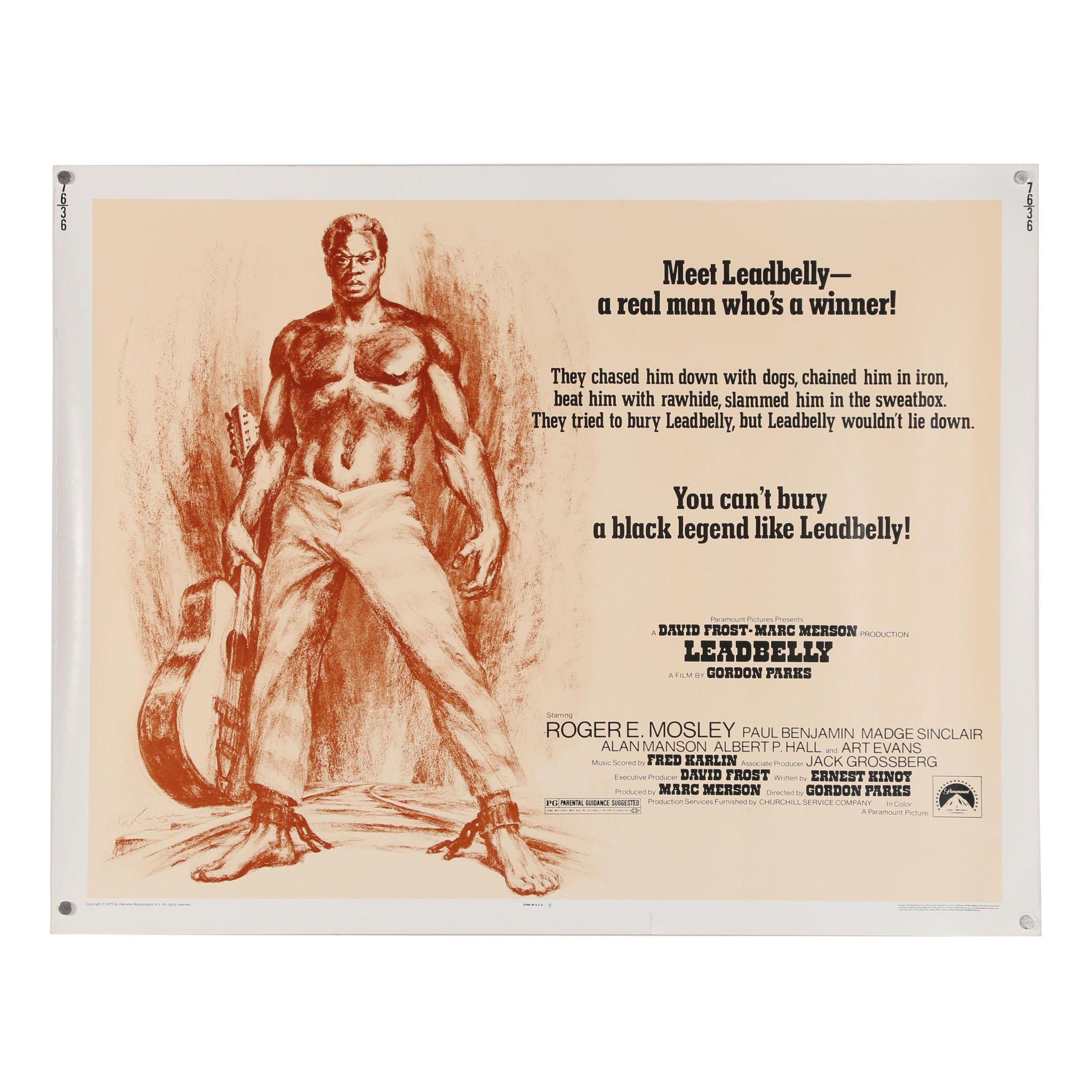 "Halftone Movie Poster ""Leadbelly"""