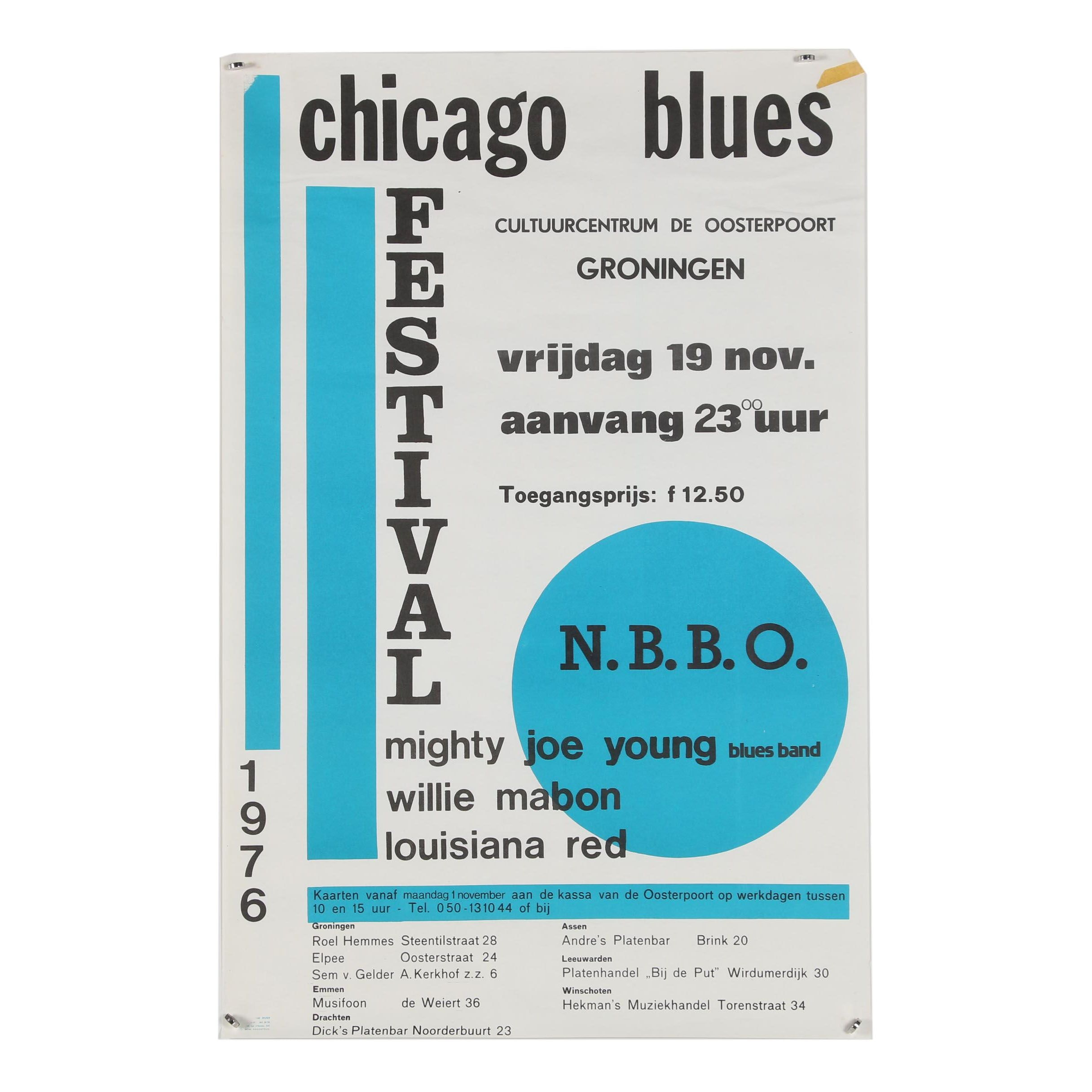 "Lithograph Poster ""Chicago Blues Festival"""