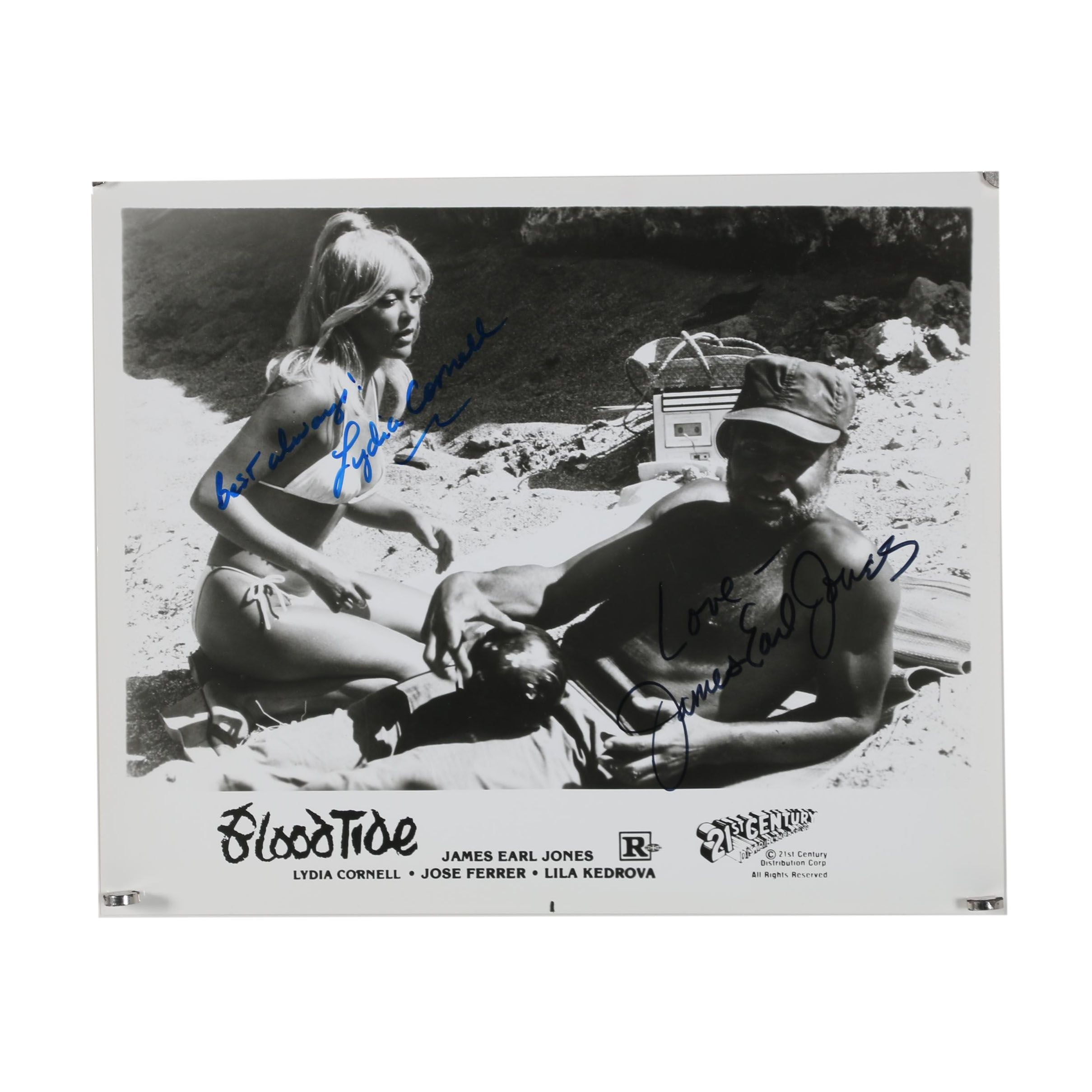 """James Earle Jones Autographed Silver Gelatin Photograph for the Film """"Bloodtide"""""""