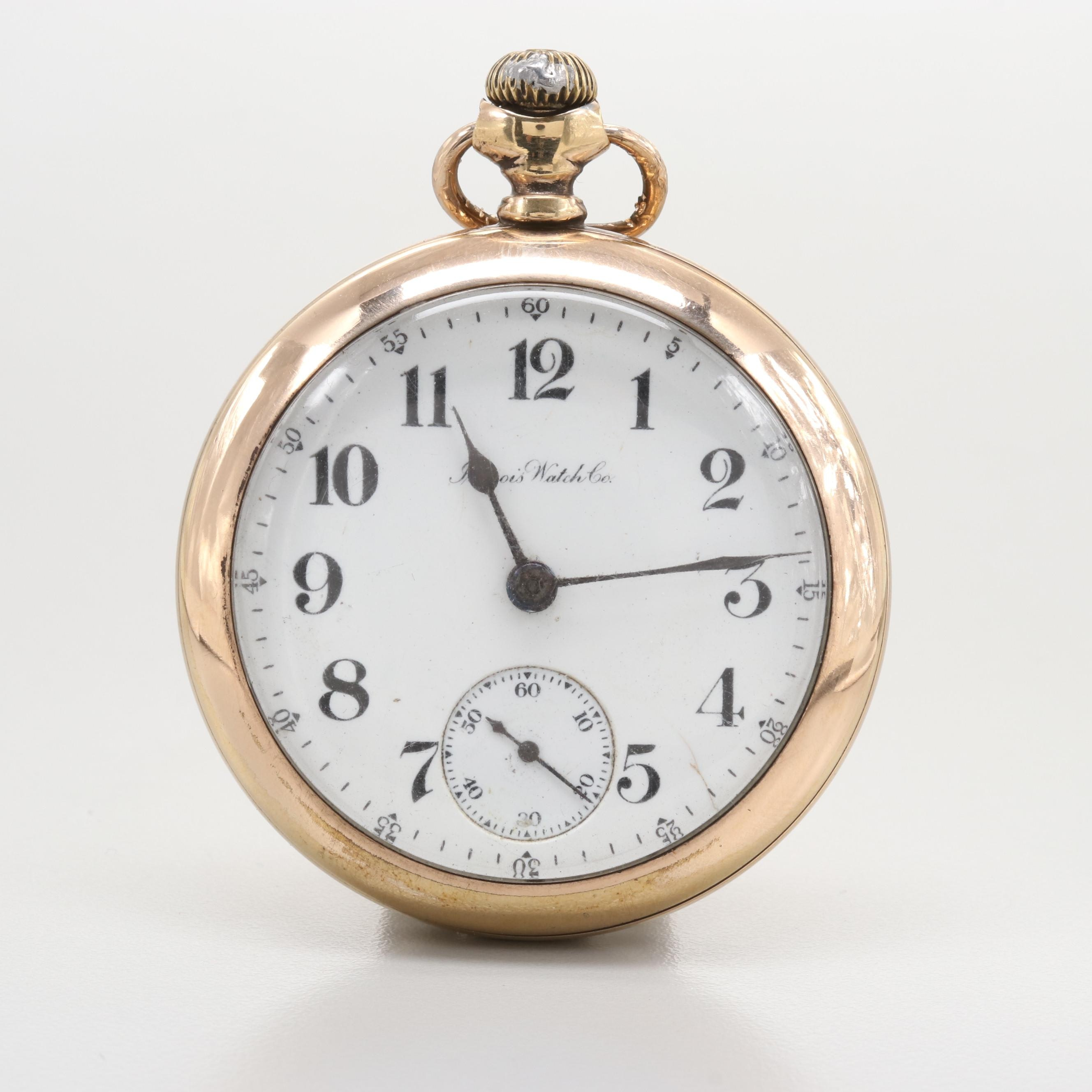 Illinois Gold Filled Lever Set Pocket Watch, 1915