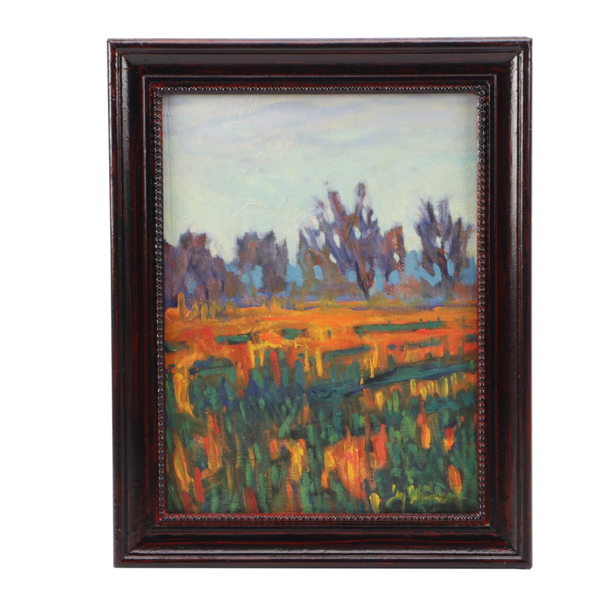 Jay Wilford Oil Landscape Painting of Meadow