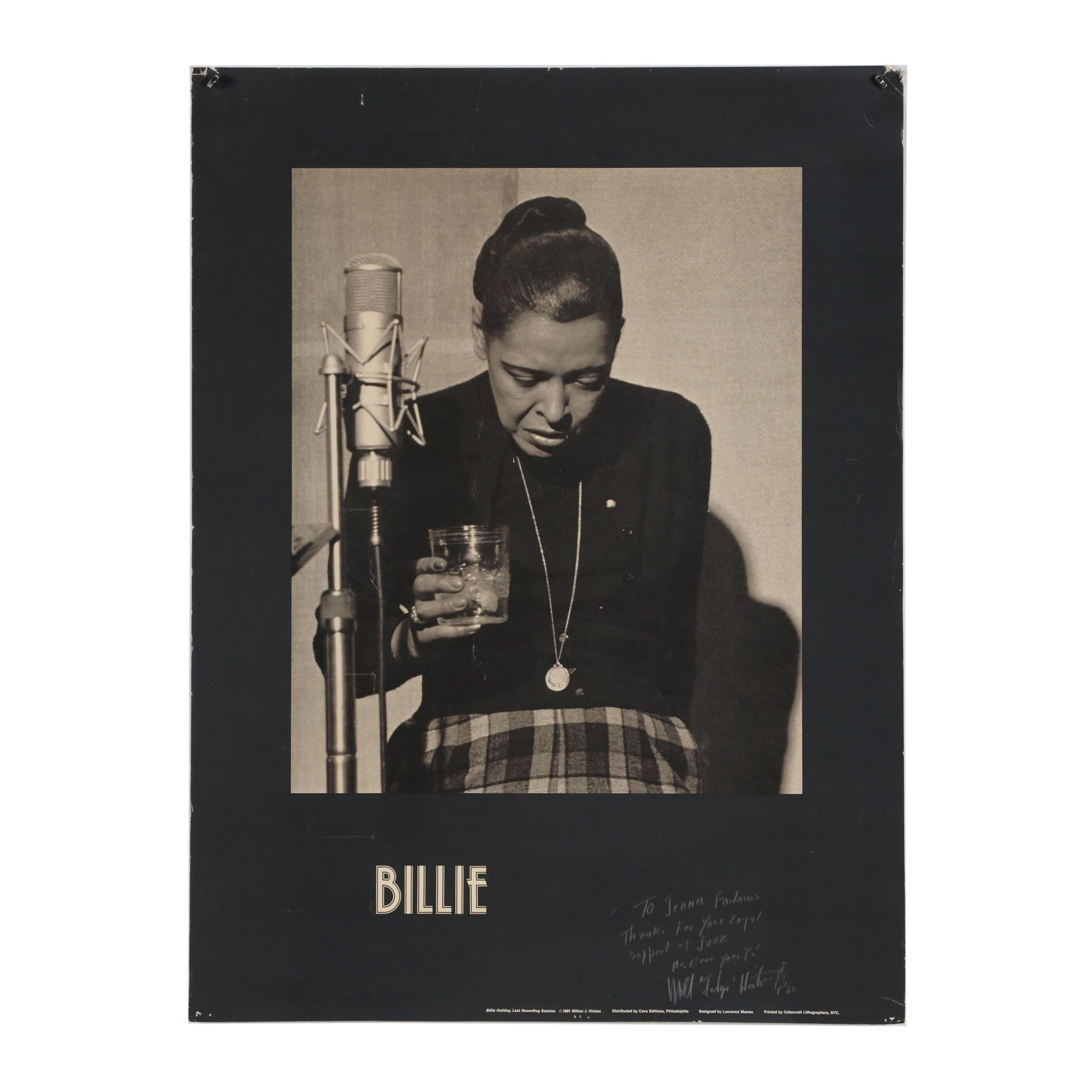 "Milton J. Hilton Halftone Poster ""Billie"""