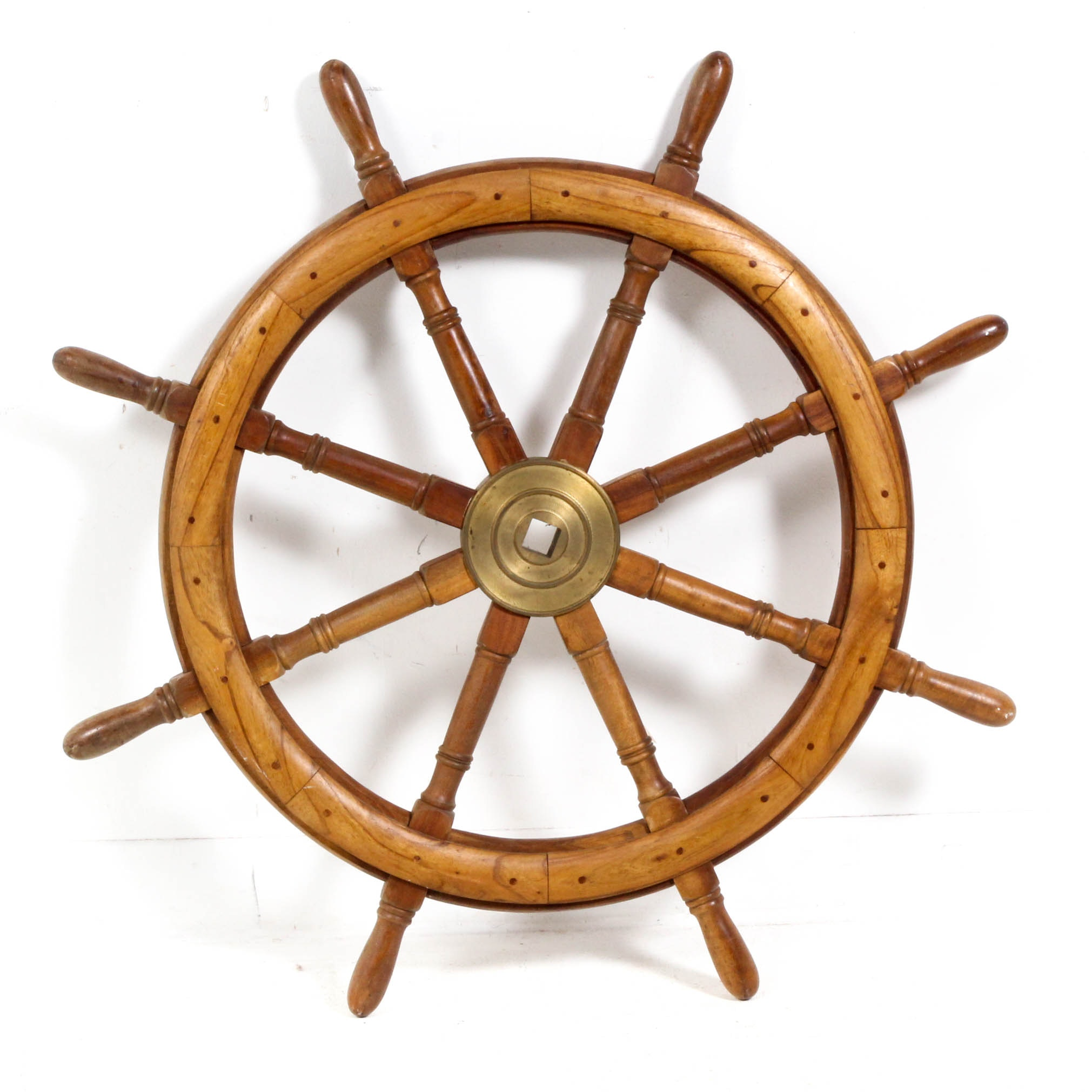 Decorative Wooden Ship's Wheel