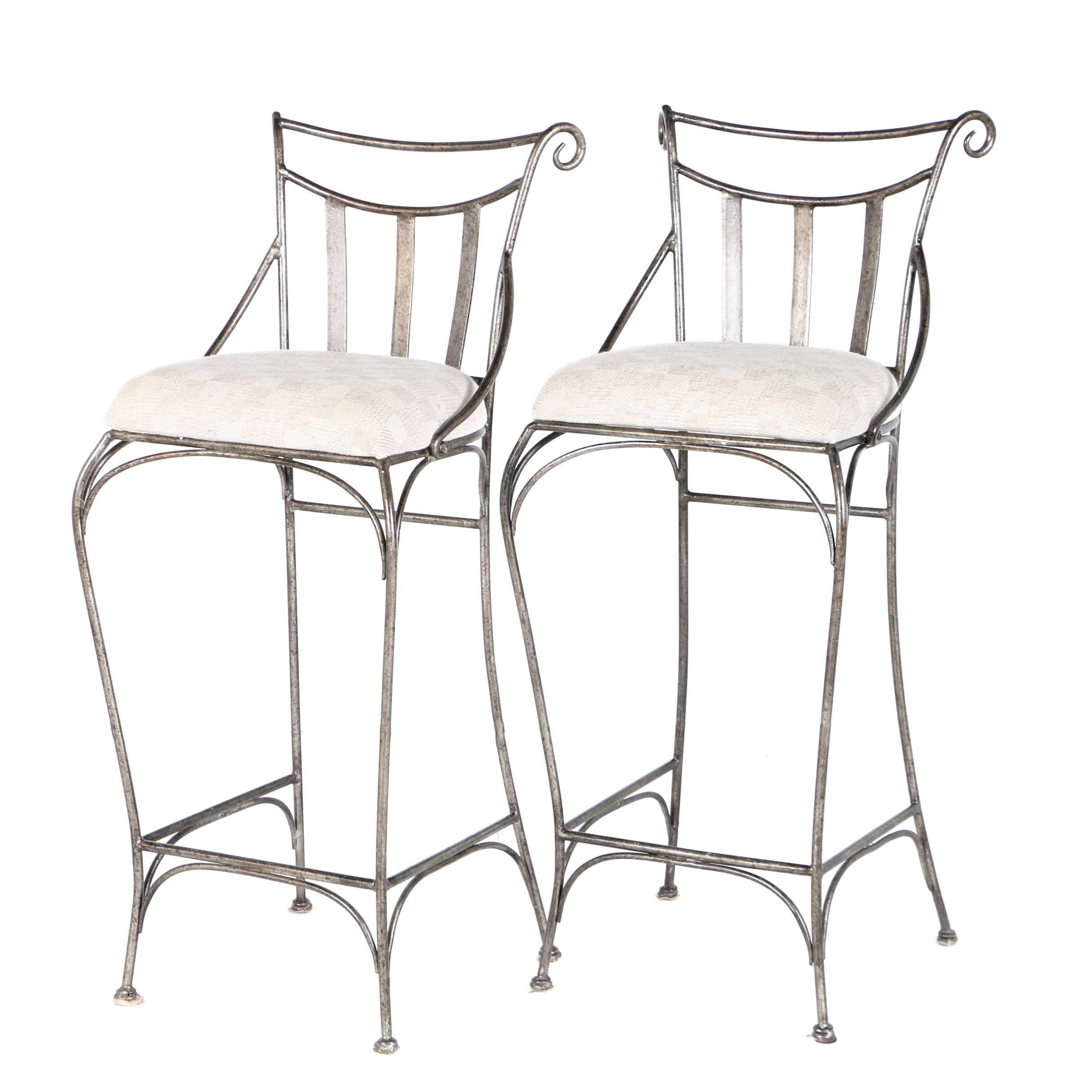 Pair of Contemporary Wire Barstools by Pt. Hakaya Indomas