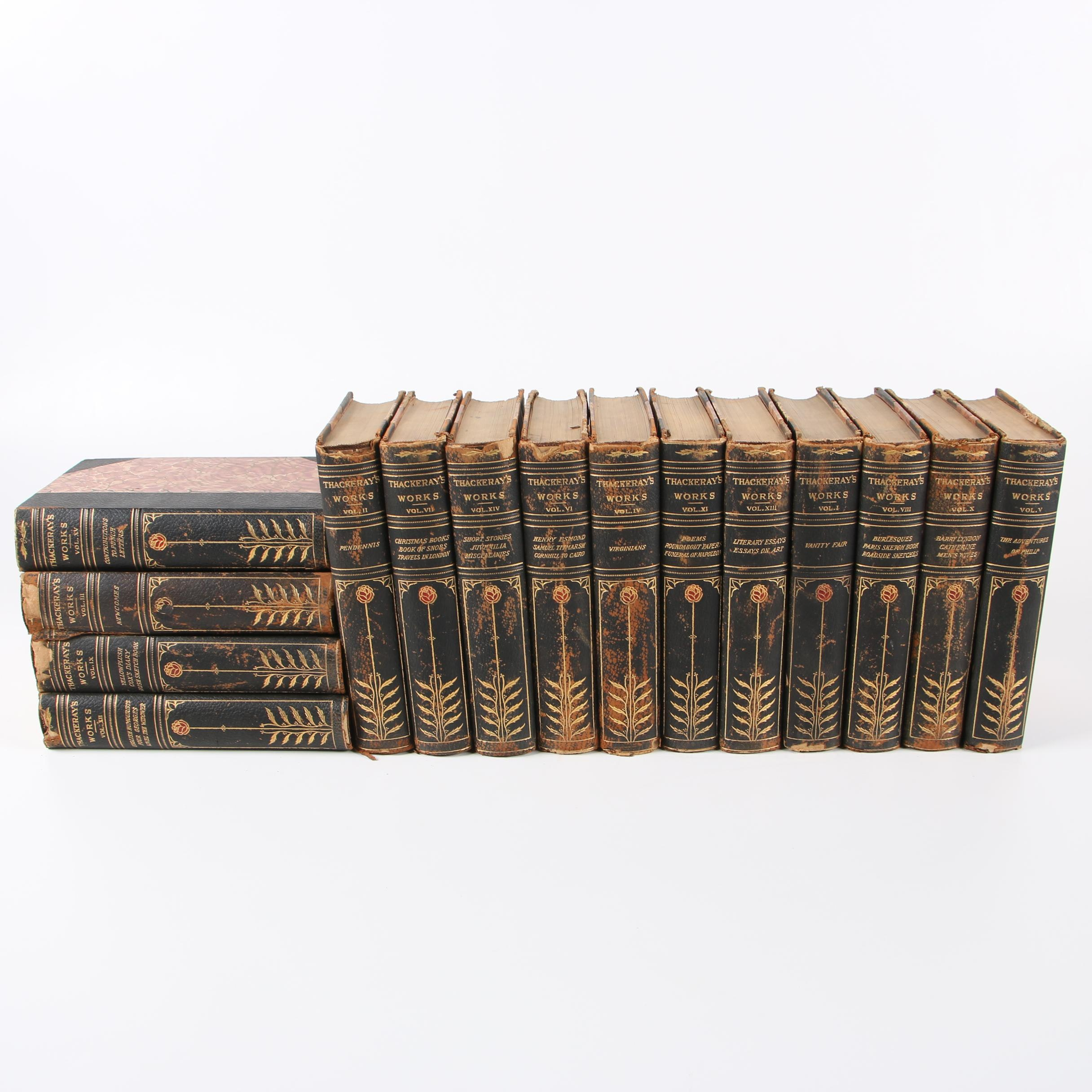 """Croxley Edition """"The Complete Works of William Makepeace Thackeray"""""""