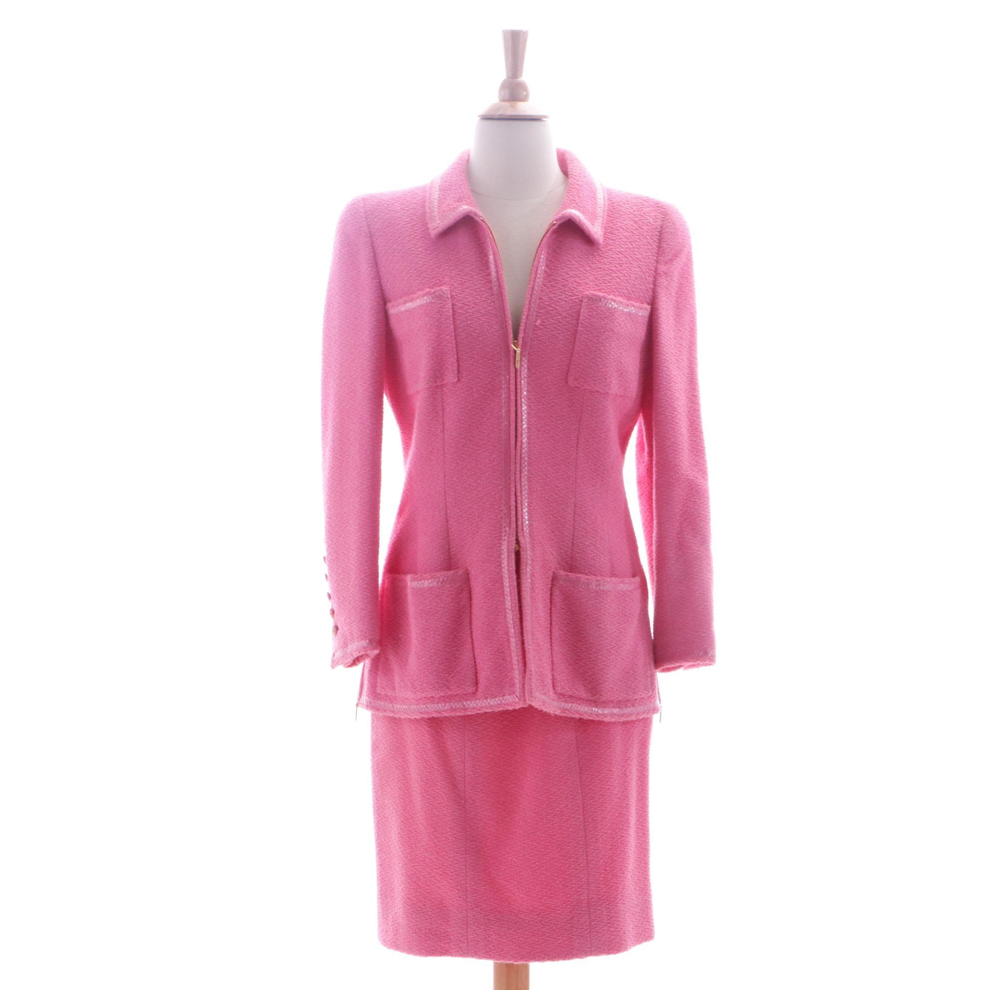 Chanel Cotton Blend Skirt Suit