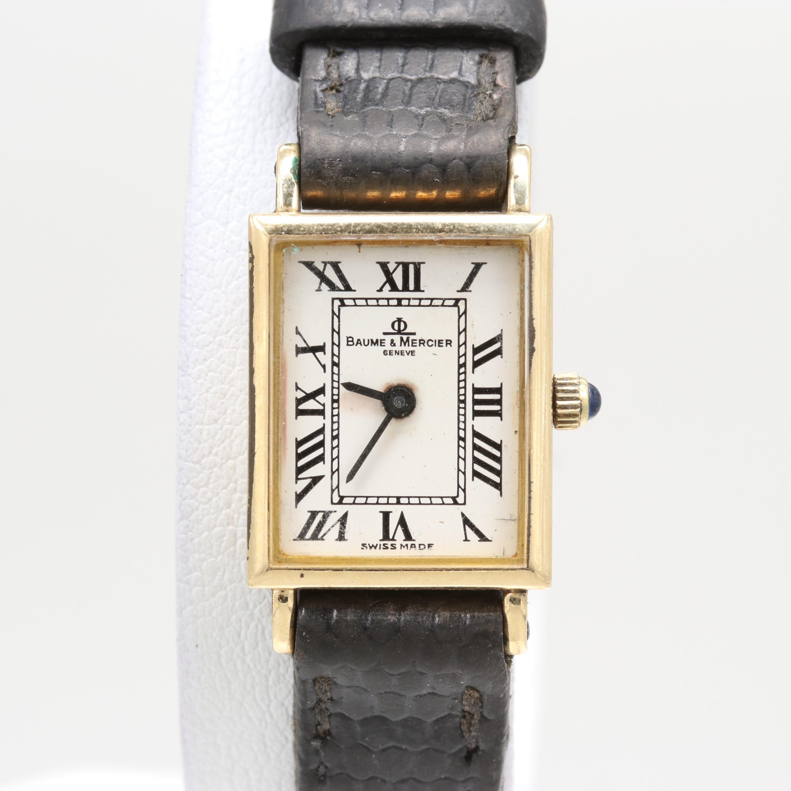 Baume & Mercier 14K Yellow Gold Quartz Wristwatch